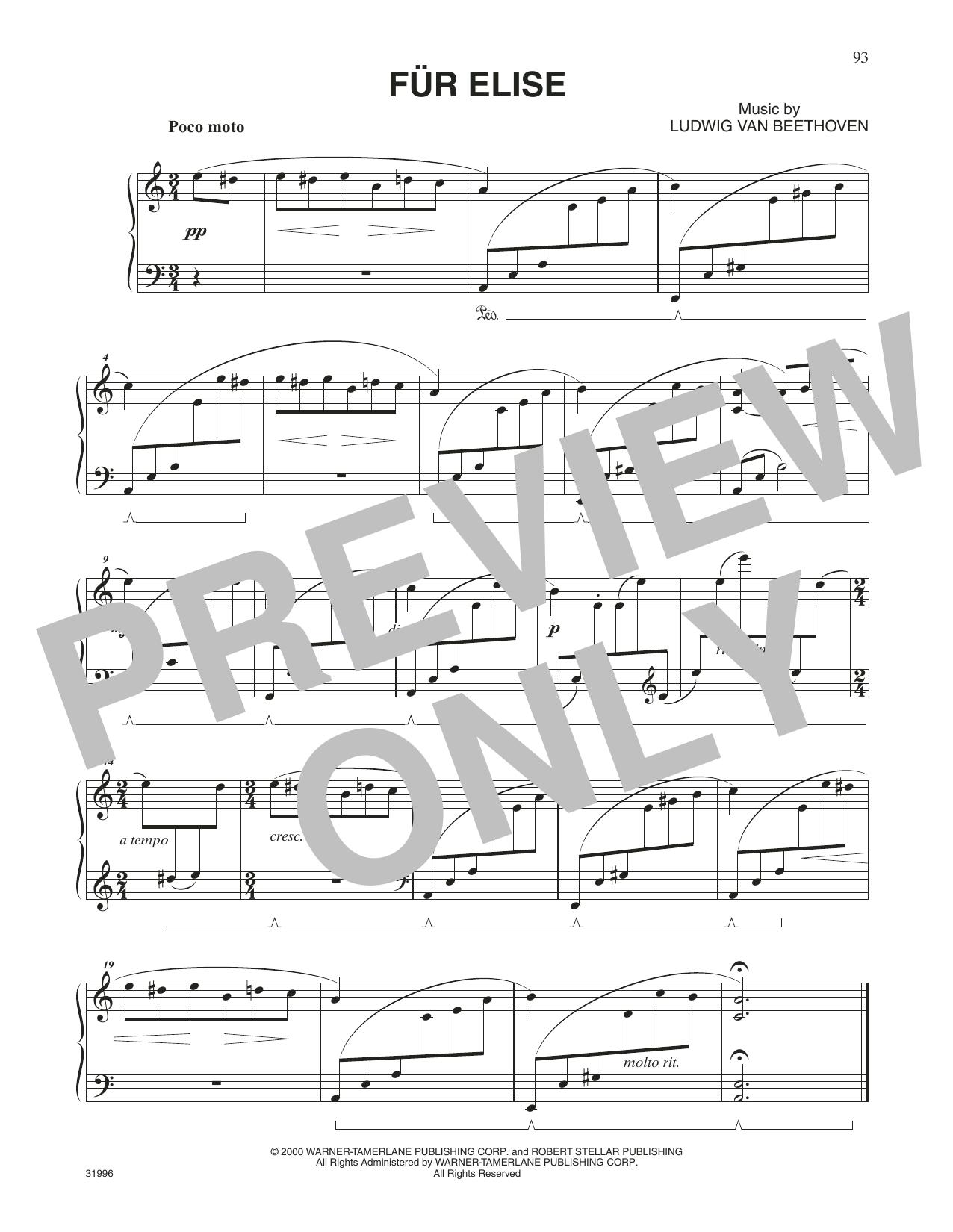 Fur Elise (Piano Solo)
