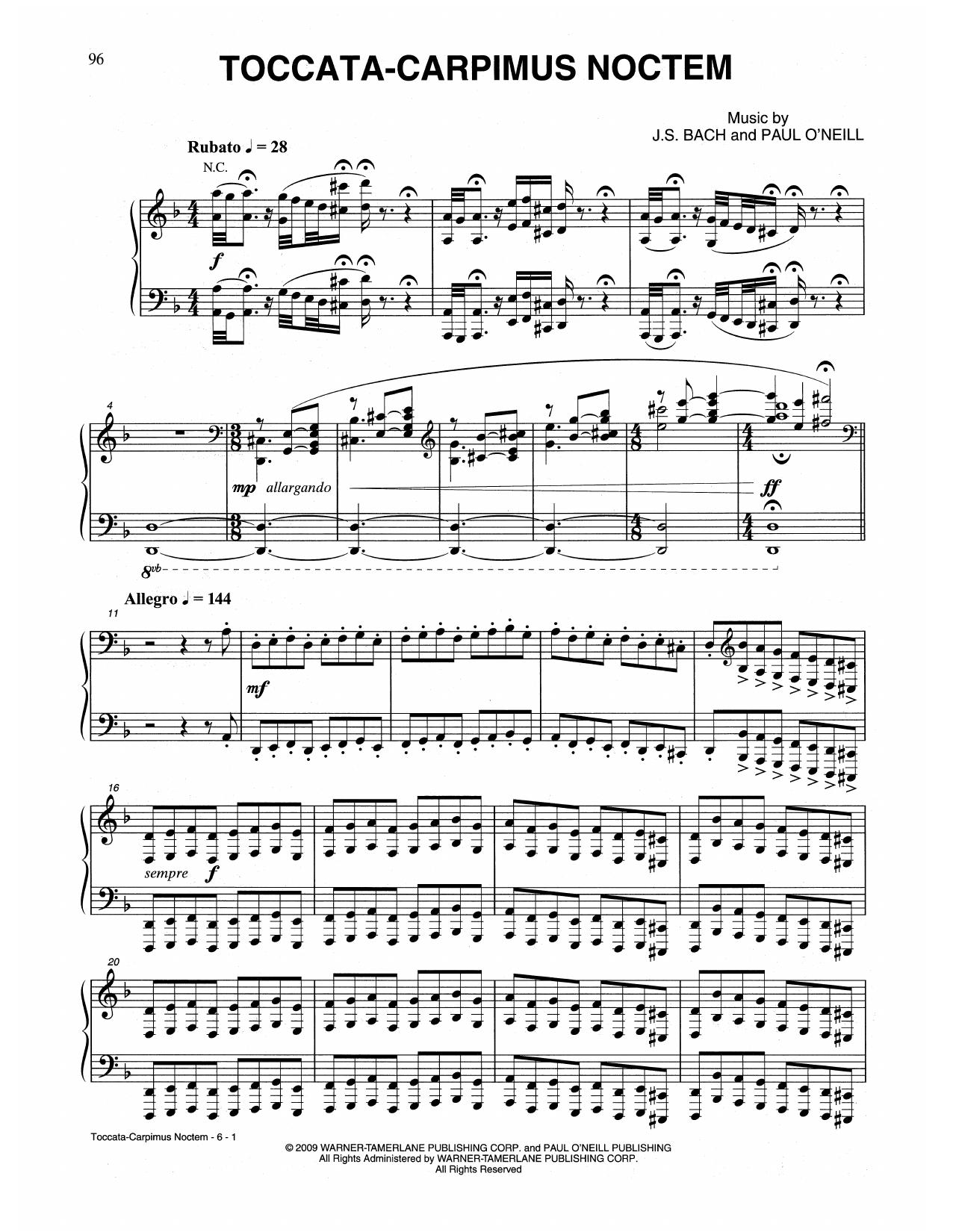 Toccata-Carpimus Noctem (Piano Solo)