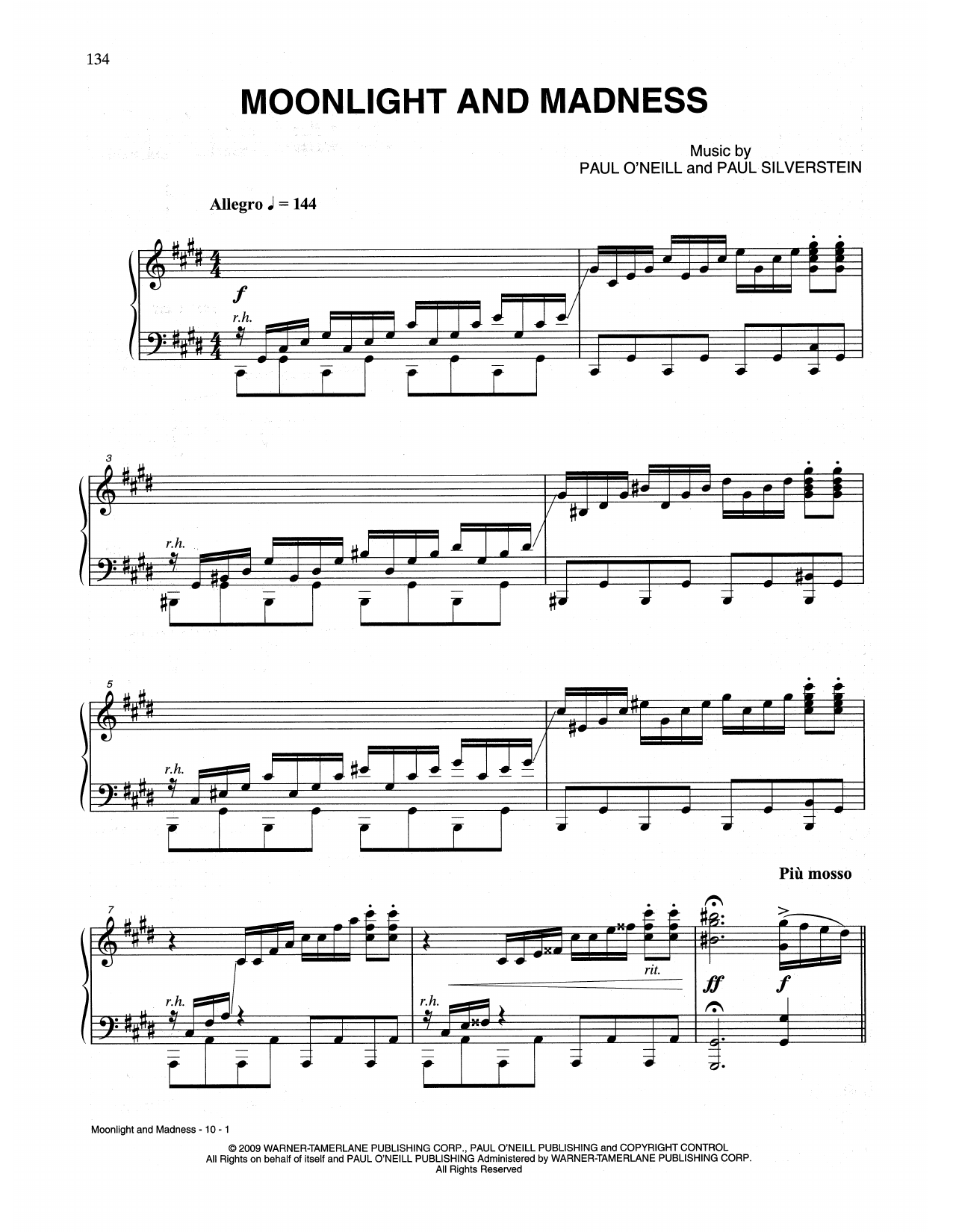Moonlight And Madness (Piano Solo)