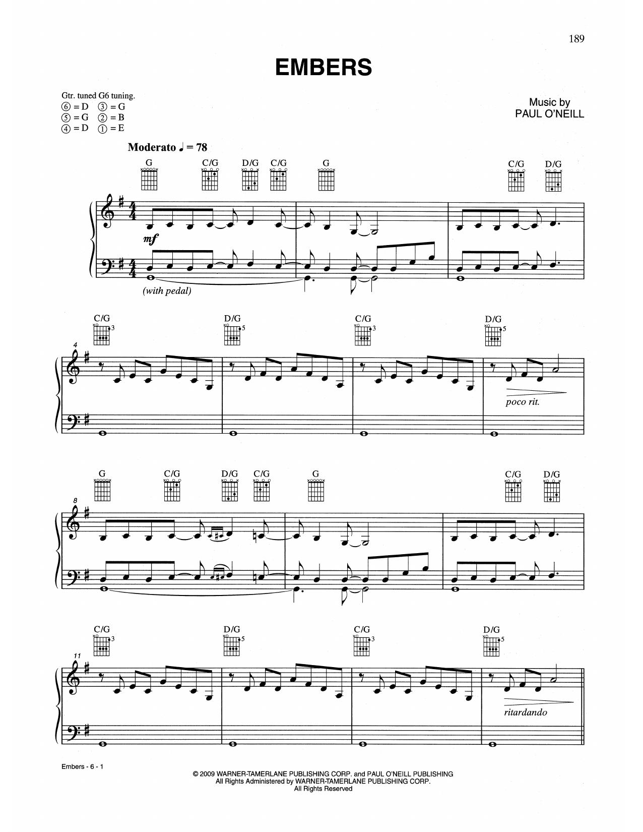 Embers (Piano Solo)
