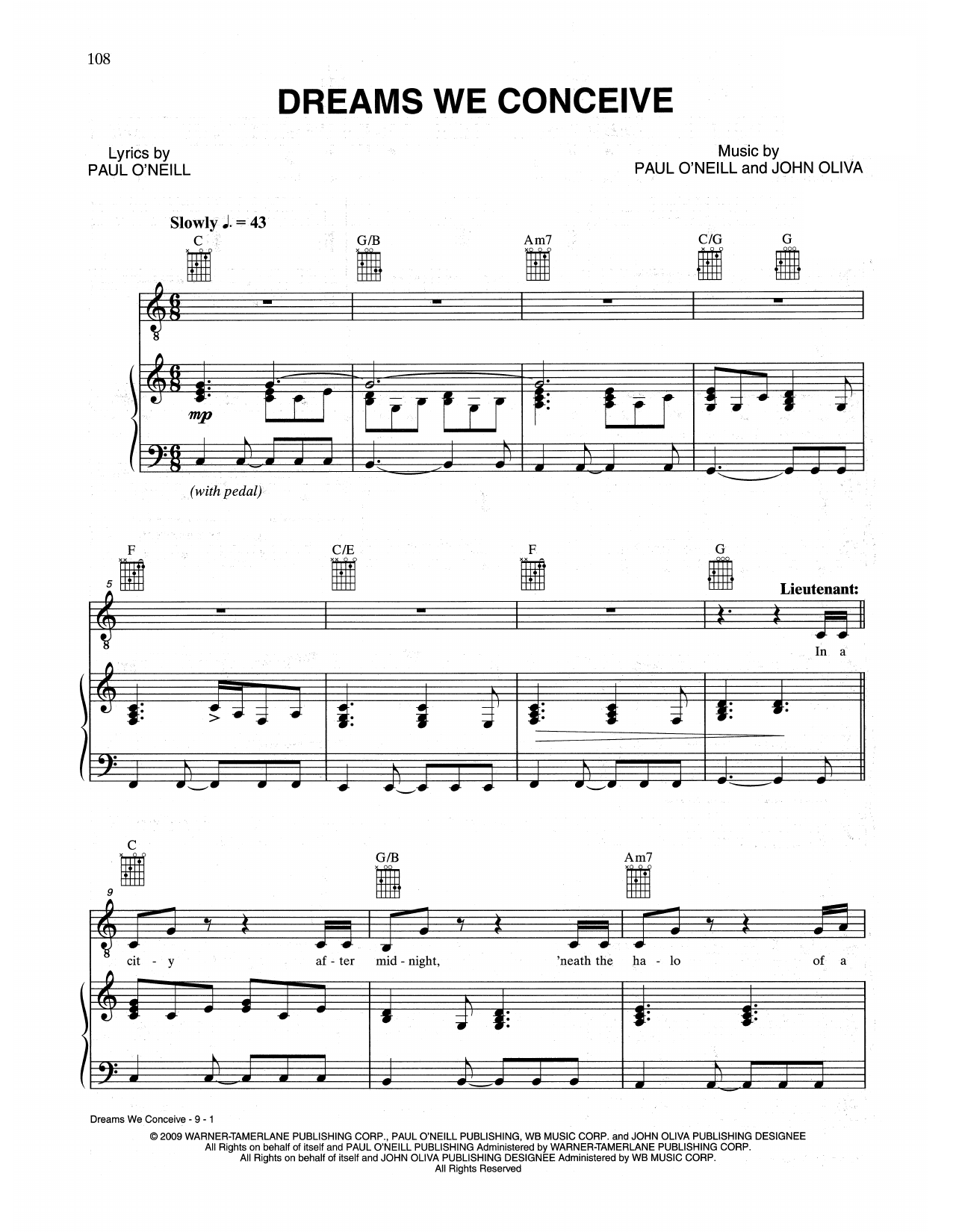 Dreams We Conceive (Piano, Vocal & Guitar (Right-Hand Melody))