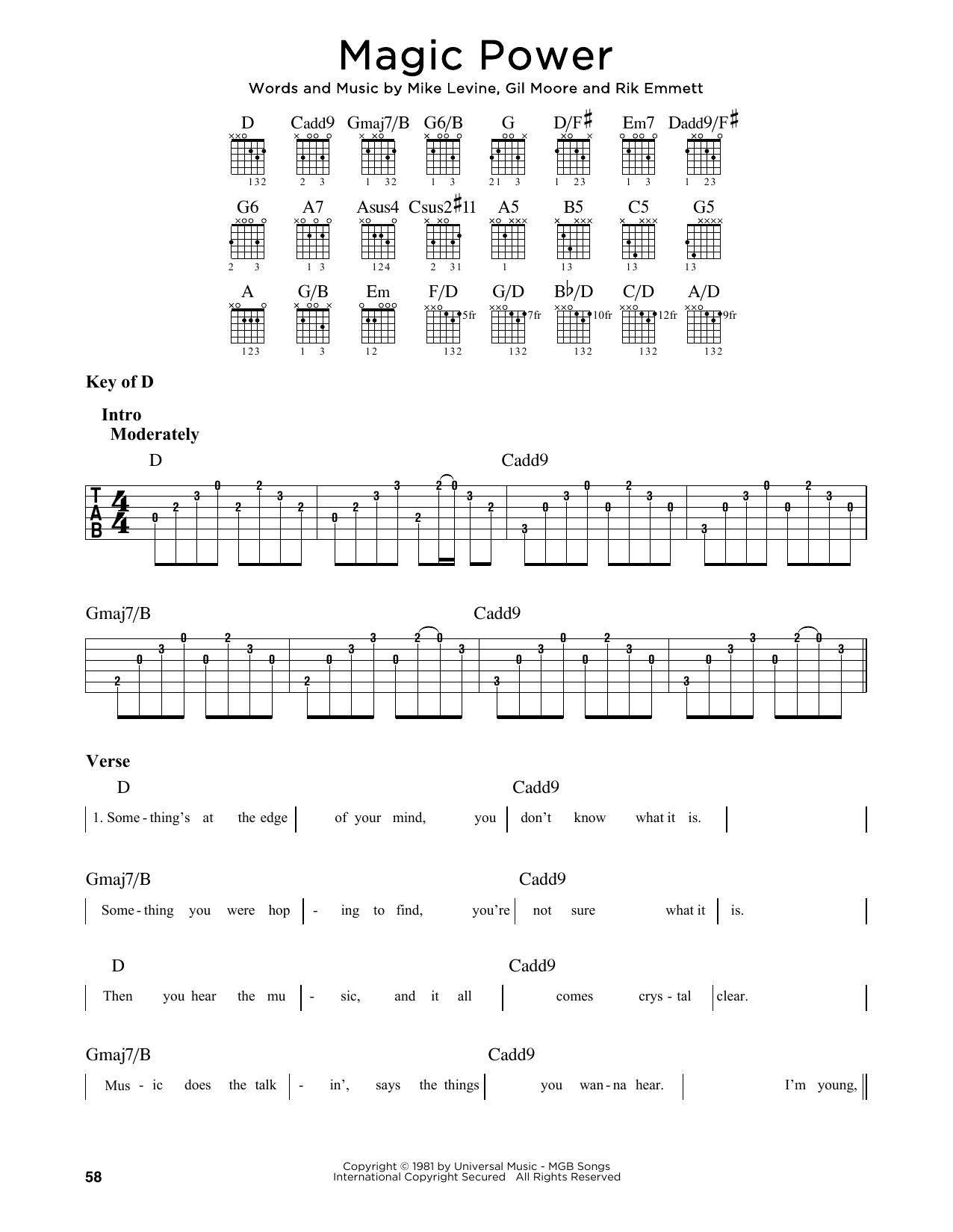 Magic Power (Guitar Lead Sheet)