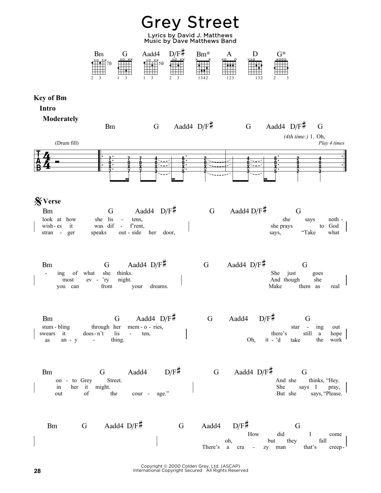 Grey Street (Guitar Lead Sheet)