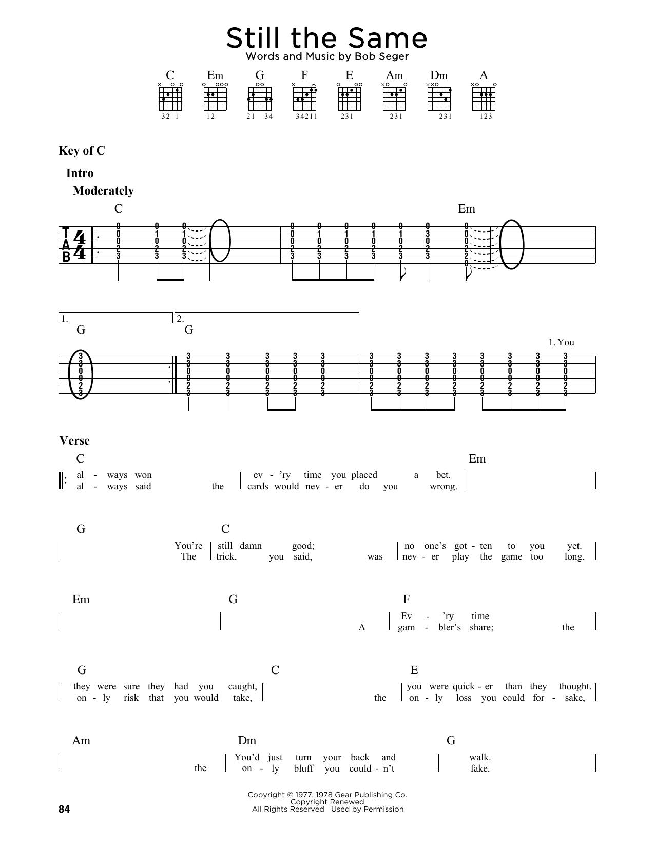 Still The Same (Guitar Lead Sheet)