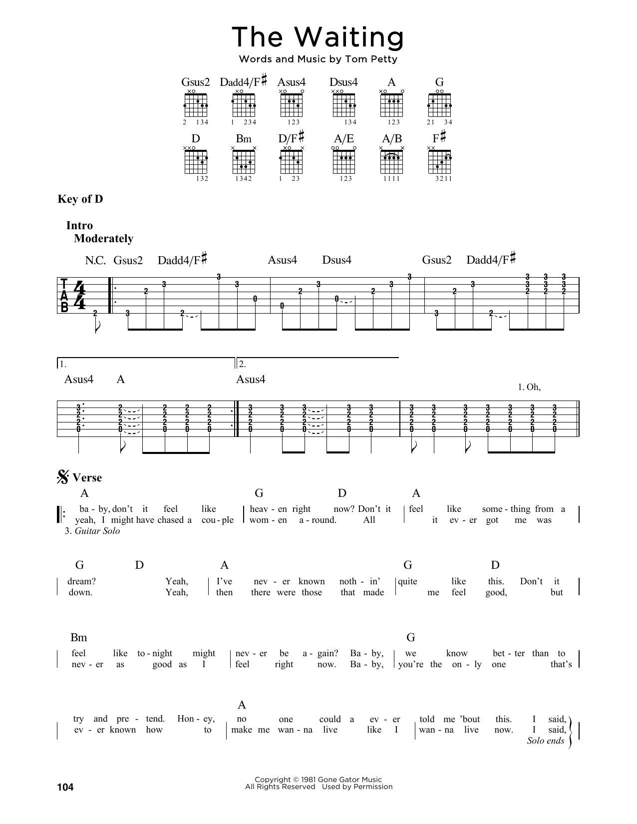 The Waiting (Guitar Lead Sheet)