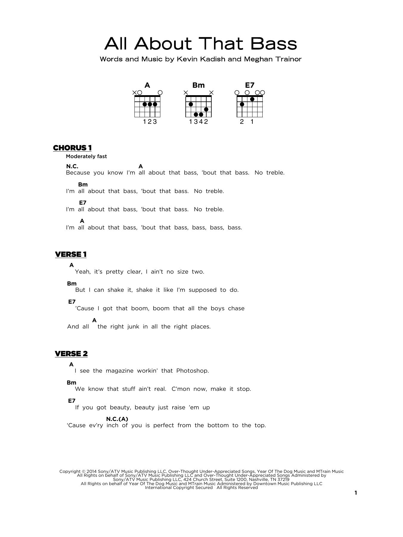 All About That Bass Sheet Music