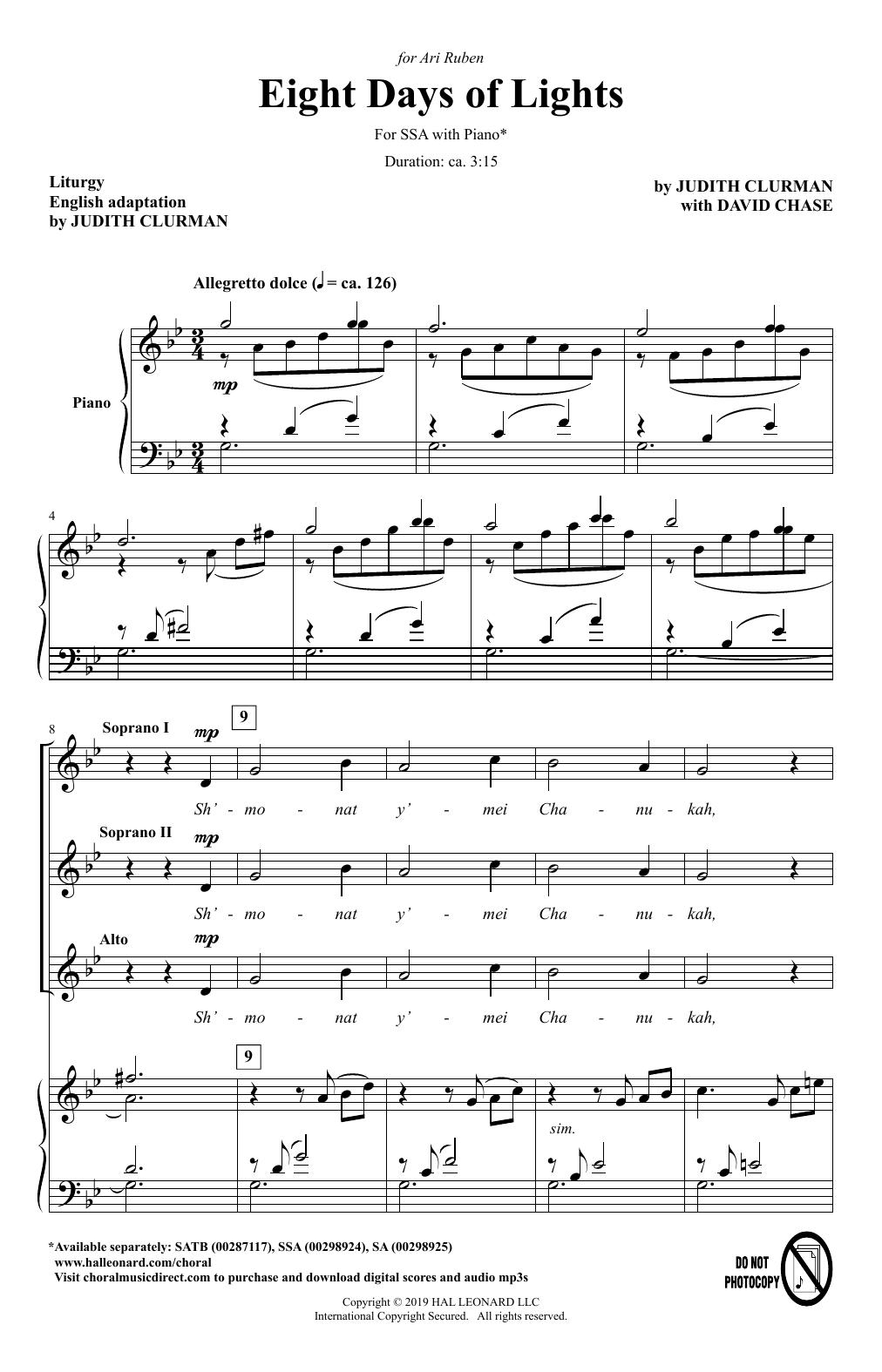 Eight Days Of Lights (SSA Choir)