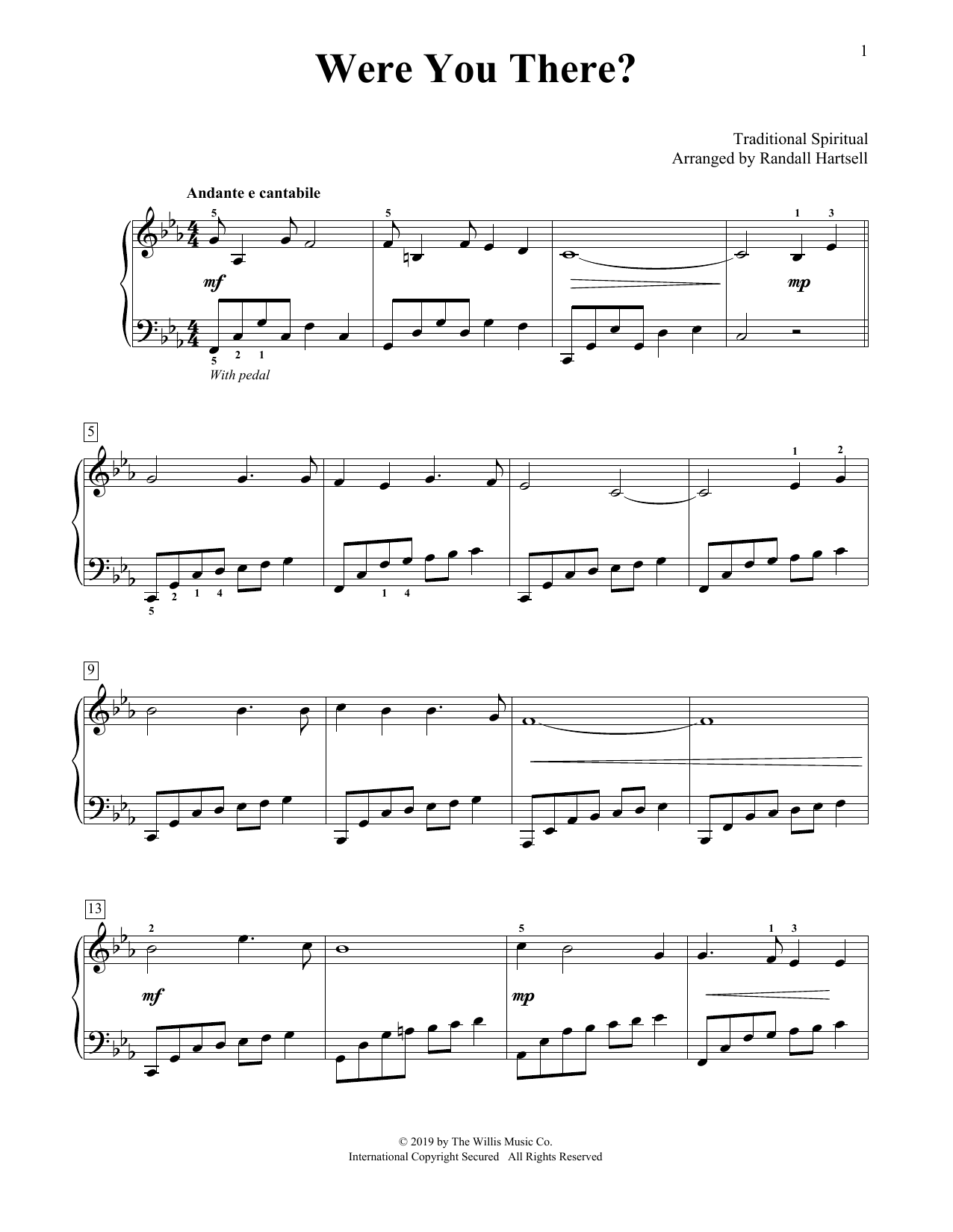 Were You There? (arr. Randall Hartsell) (Educational Piano)