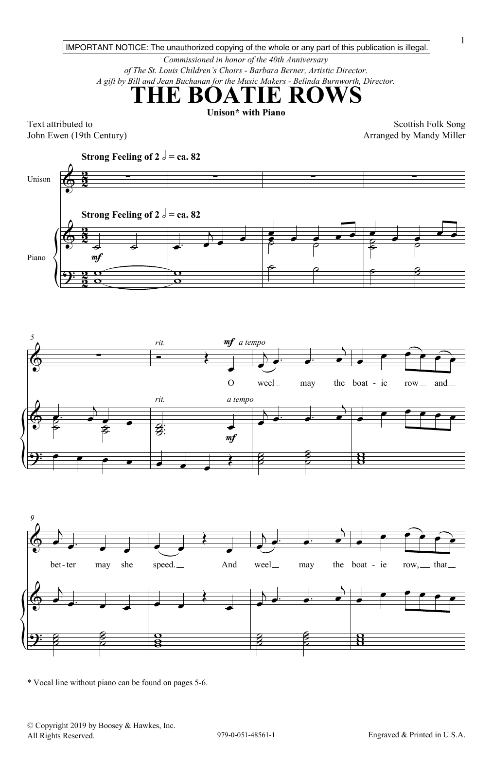 The Boatie Rows (arr. Mandy Miller) (Unison Choir)