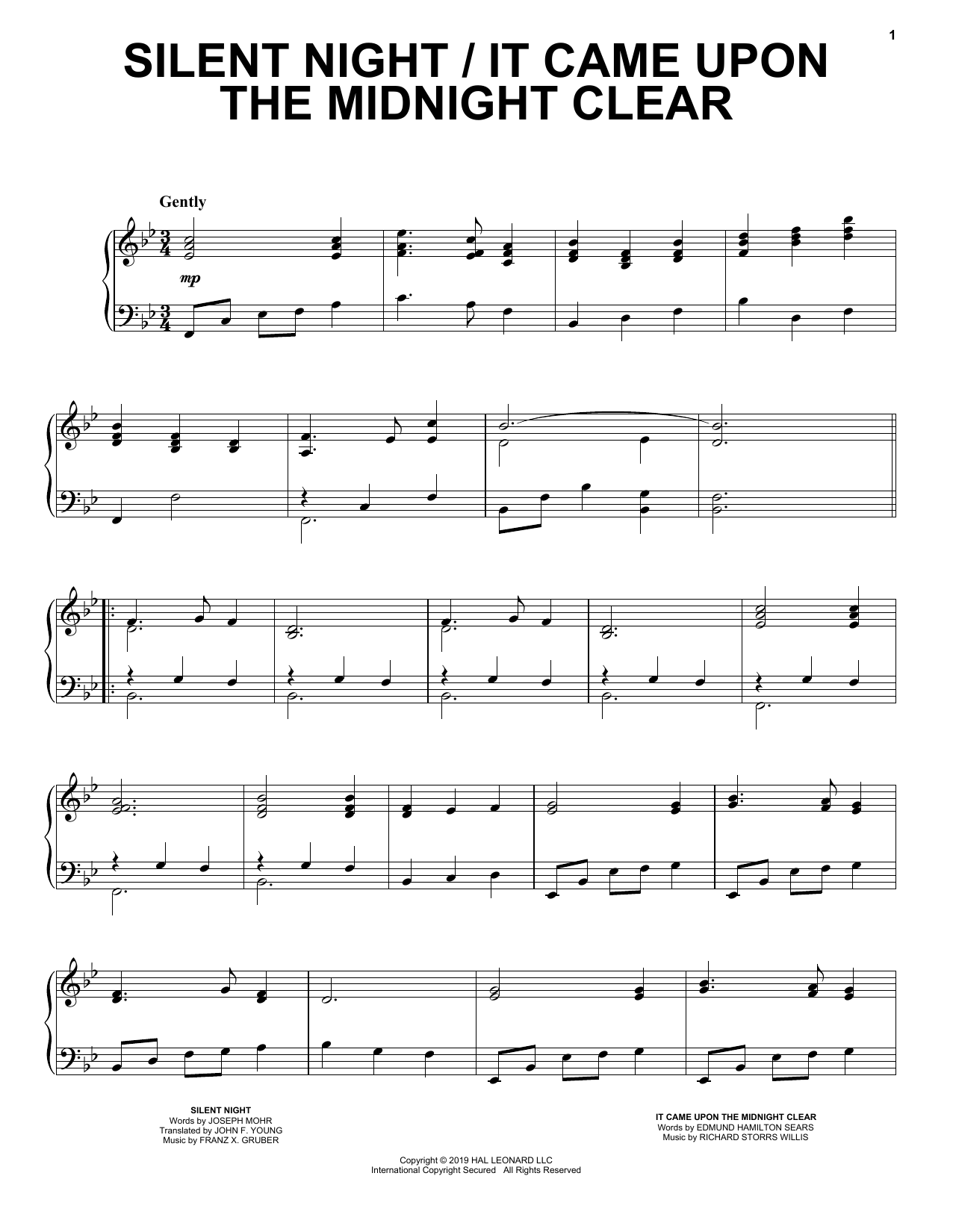 Silent Night / It Came Upon the Midnight Clear (Piano Solo)