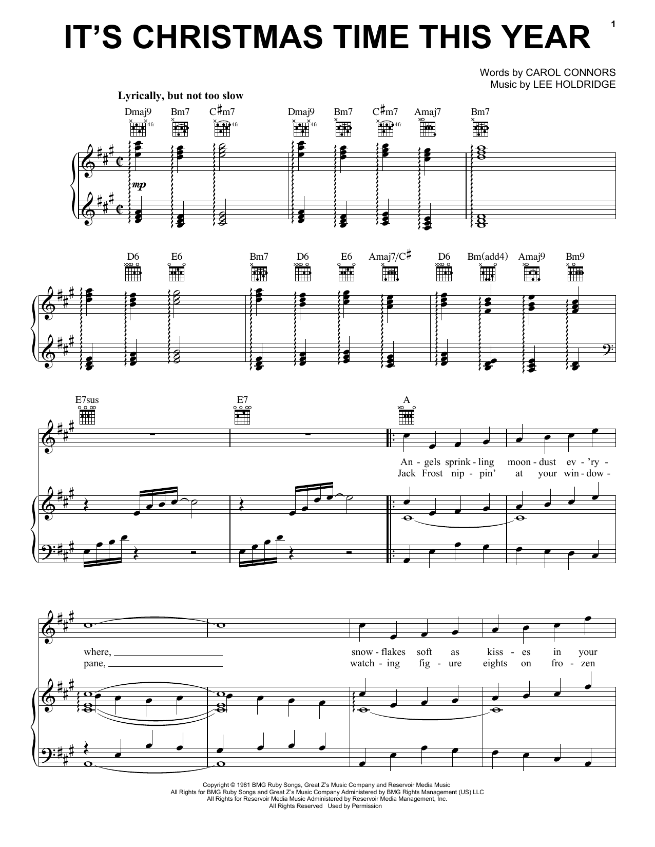 It's Christmas Time This Year (Piano, Vocal & Guitar (Right-Hand Melody))