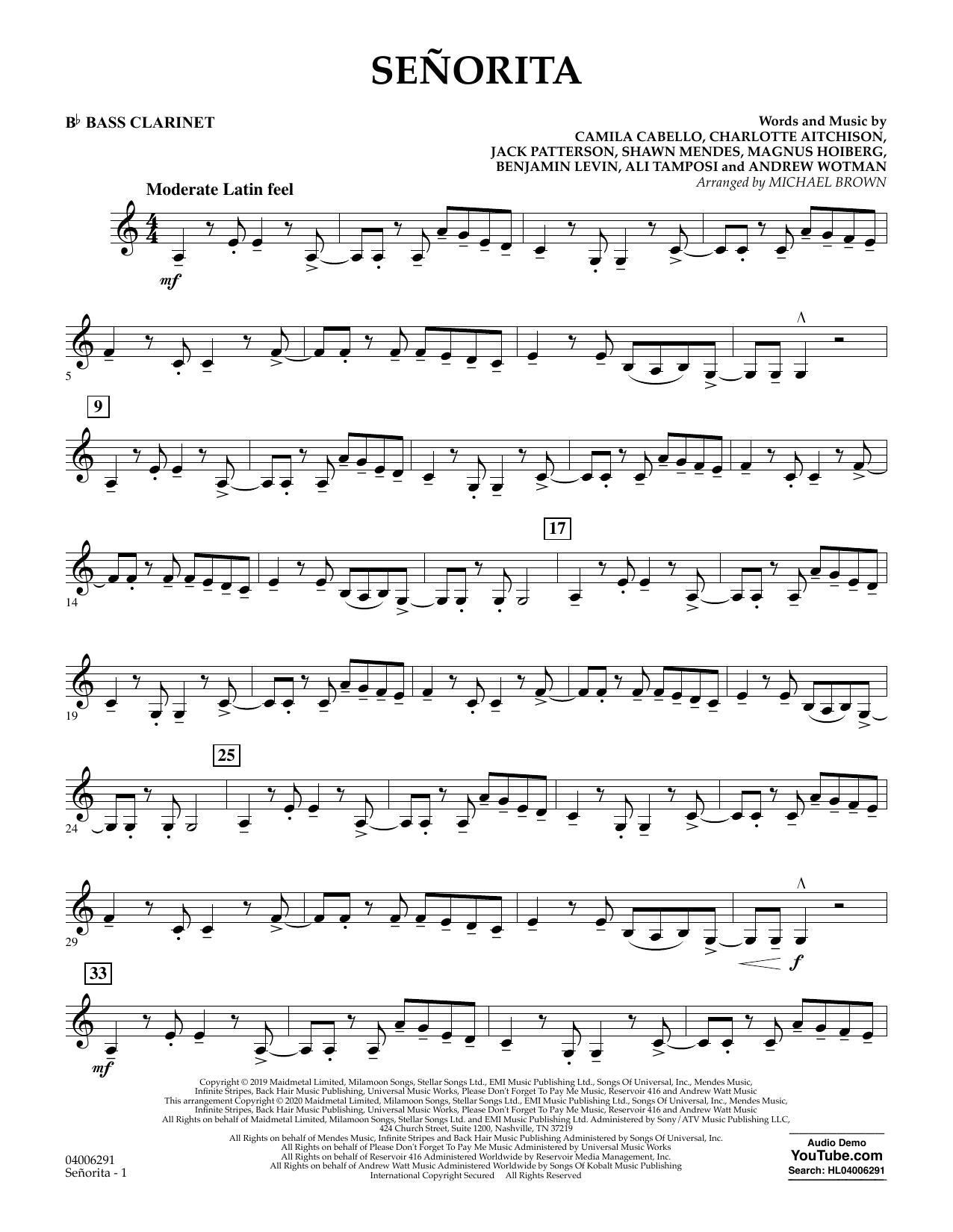 Señorita (arr. Michael Brown) - Bb Bass Clarinet (Concert Band)