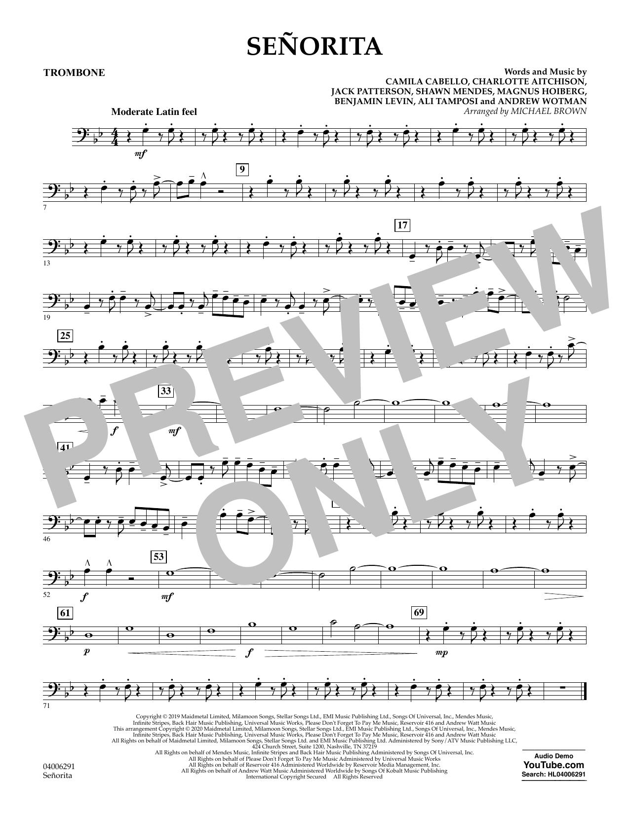 Señorita (arr. Michael Brown) - Trombone (Concert Band)