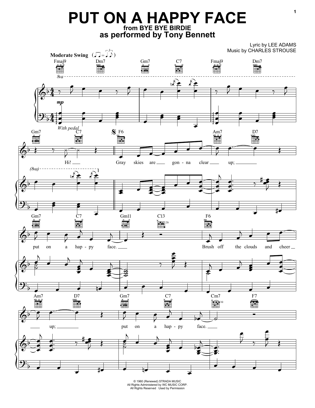 Put On A Happy Face (Piano, Vocal & Guitar (Right-Hand Melody))