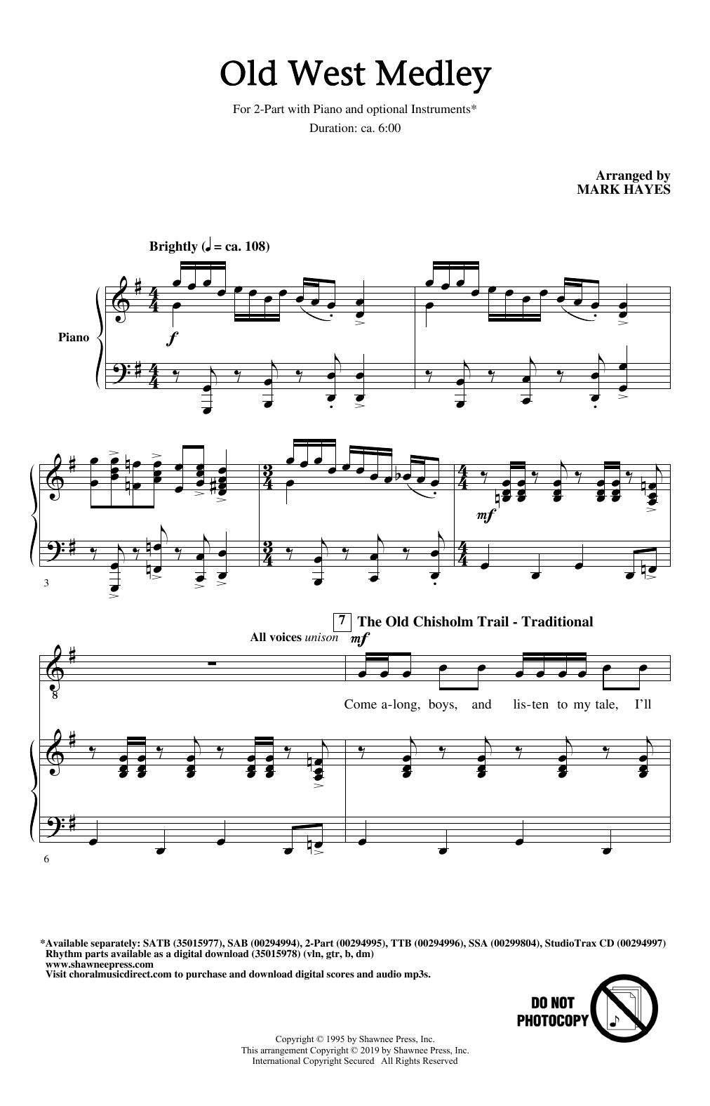 Old West Medley (arr. Mark Hayes) (2-Part Choir)