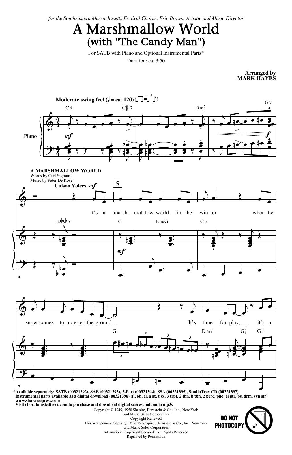 "A Marshmallow World (with ""The Candy Man"") (SATB Choir)"