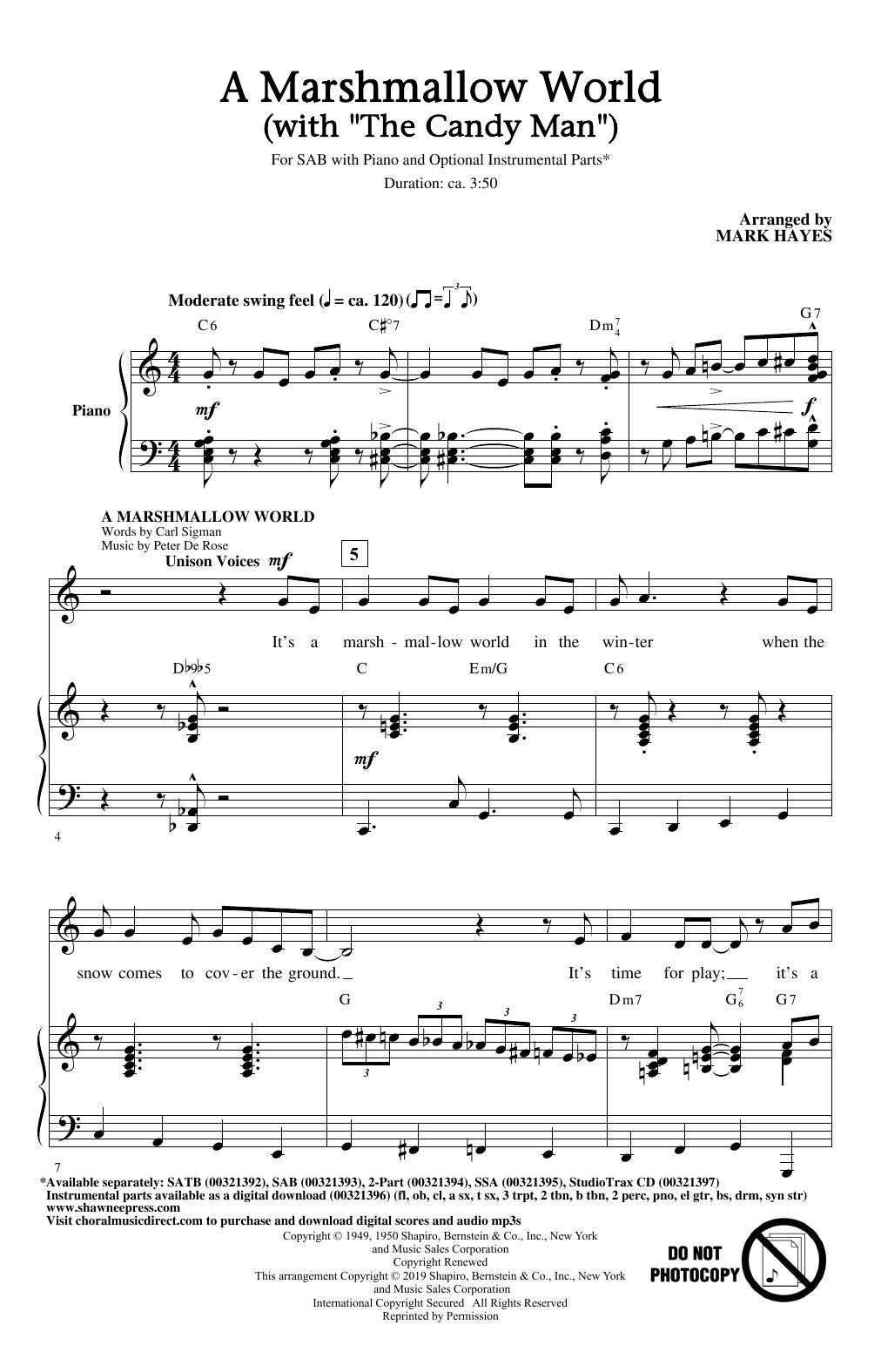 "A Marshmallow World (with ""The Candy Man"") (SAB Choir)"