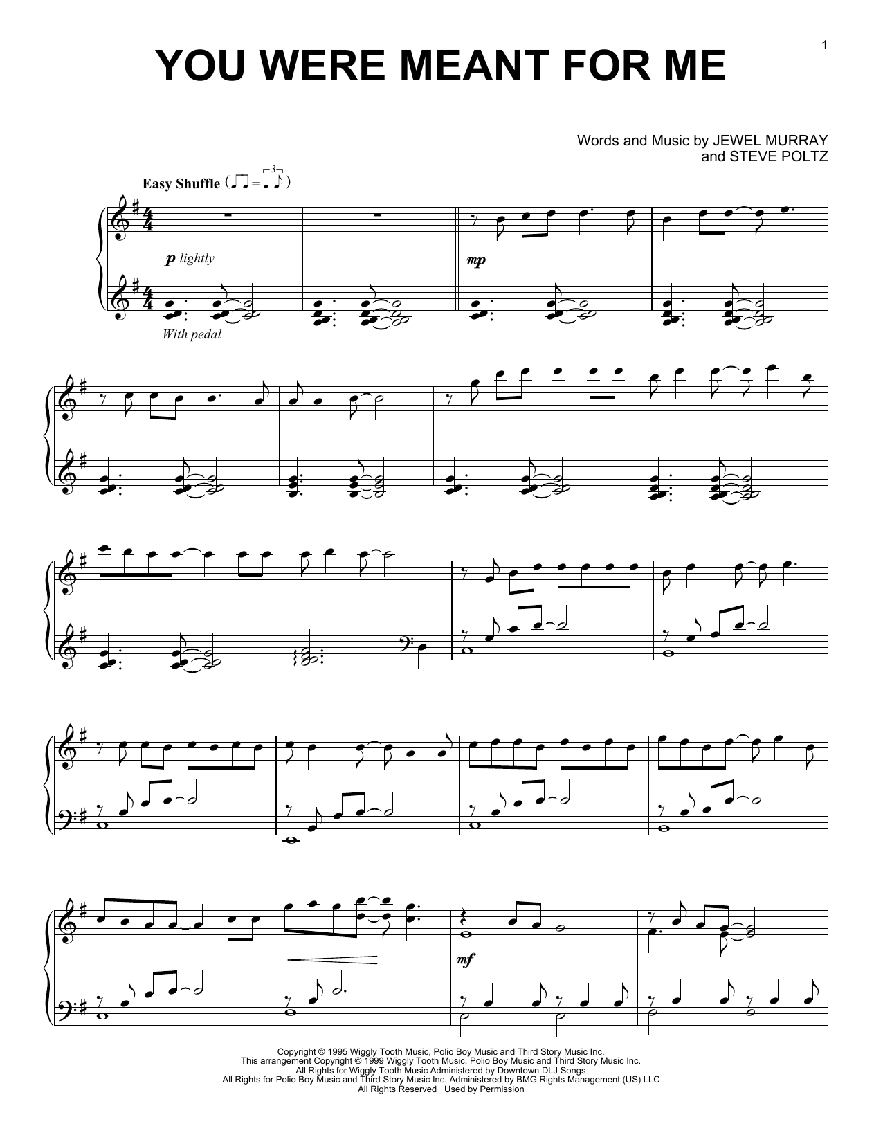You Were Meant For Me (Piano Solo)