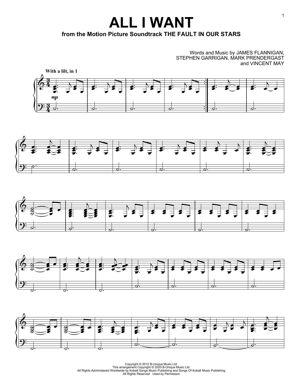 All I Want (Piano Solo)