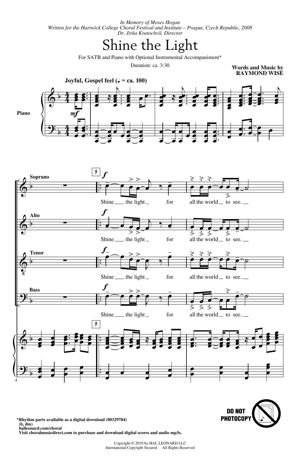 Shine The Light (SATB Choir)
