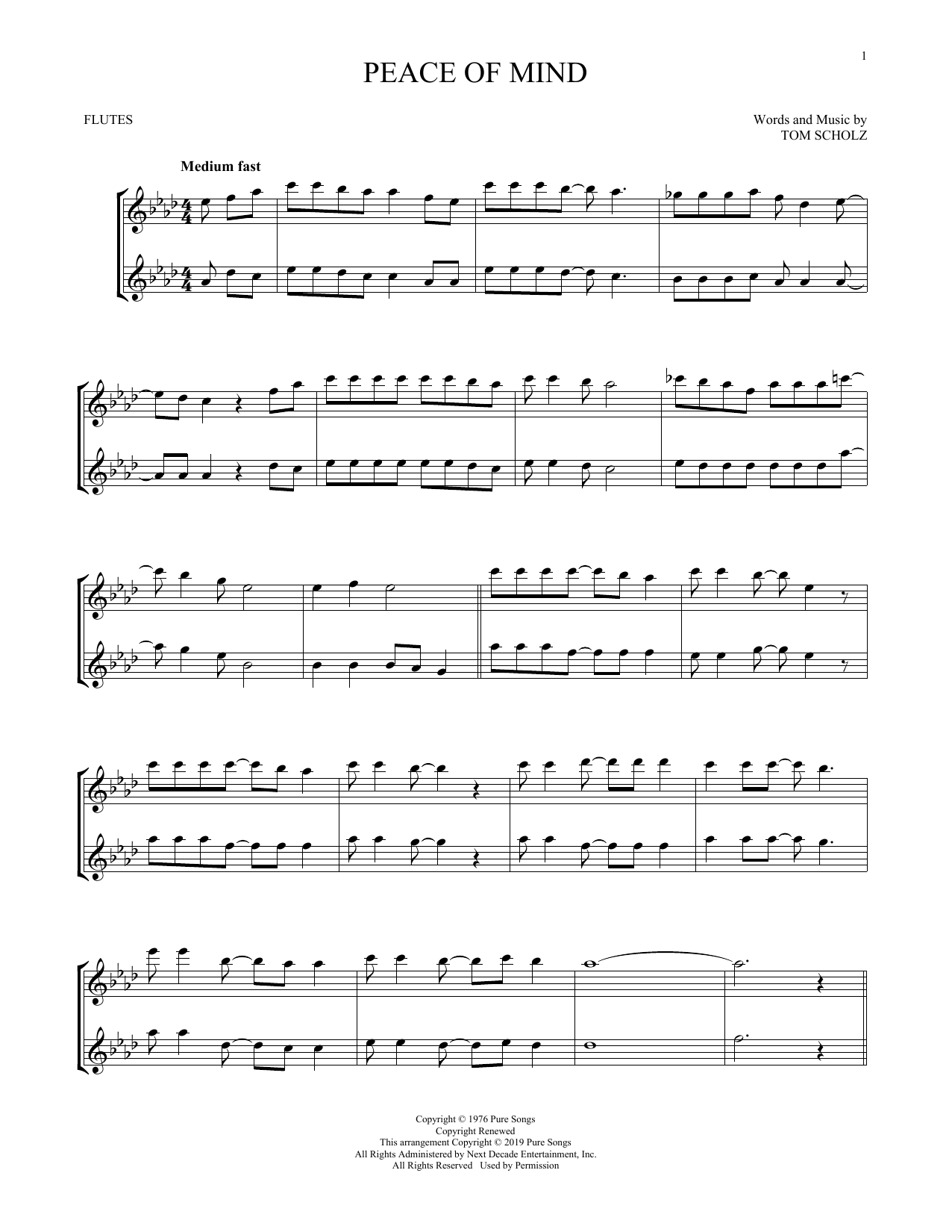 Peace Of Mind (Flute Duet)