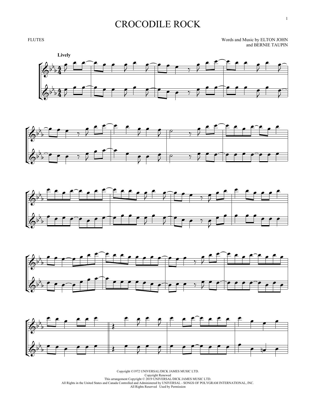 Crocodile Rock (Flute Duet)