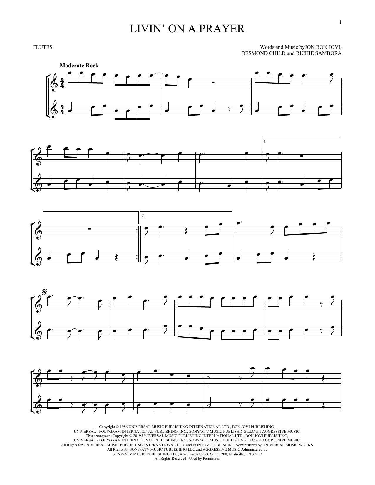 Livin' On A Prayer (Flute Duet)