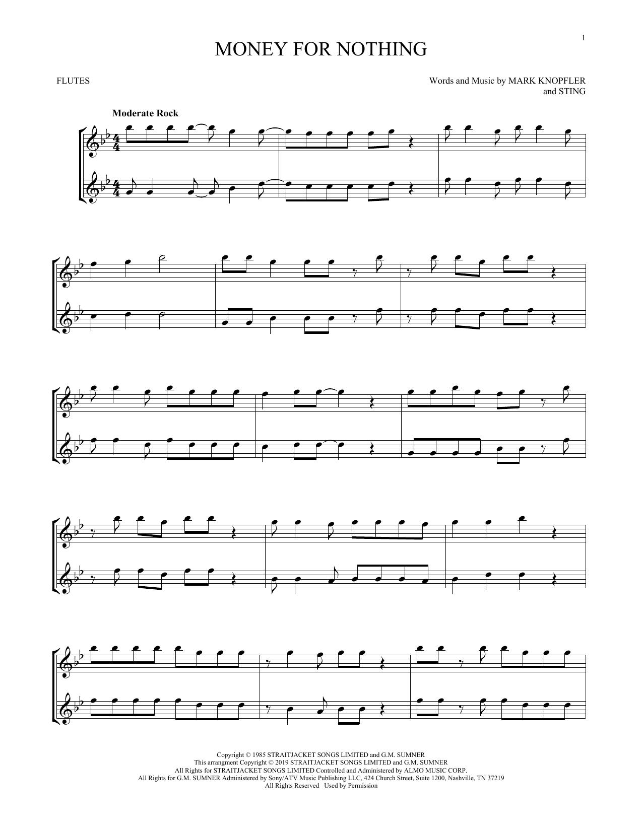 Money For Nothing (Flute Duet)
