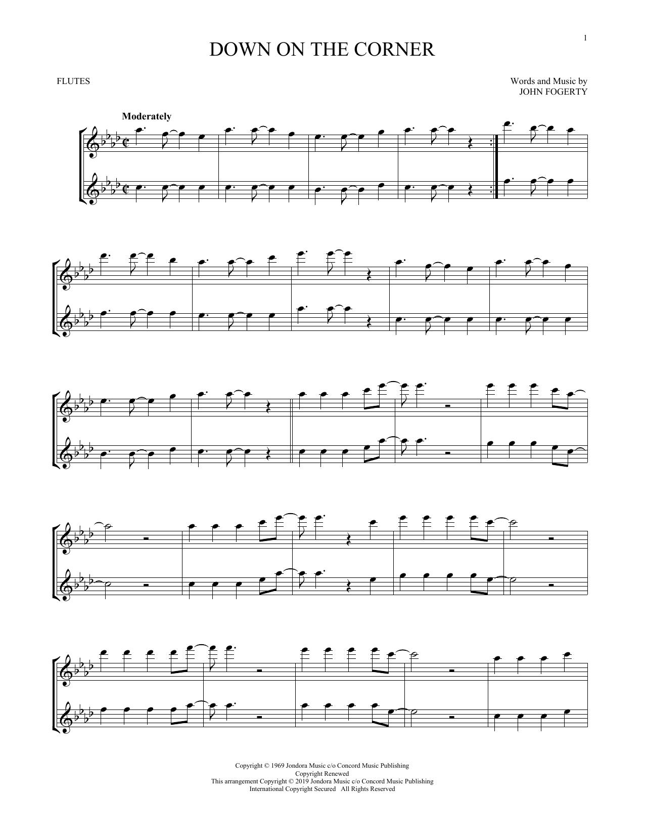 Down On The Corner (Flute Duet)