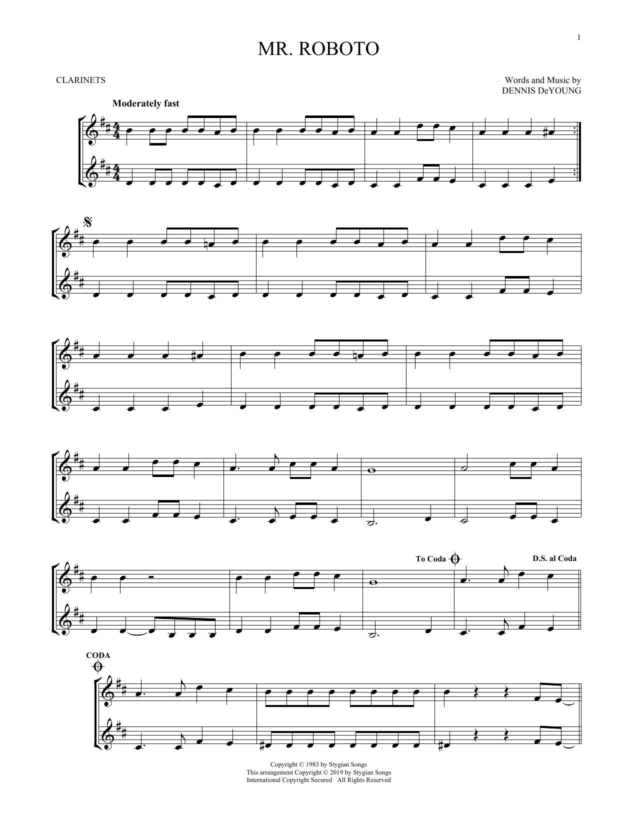 Mr. Roboto (Clarinet Duet)
