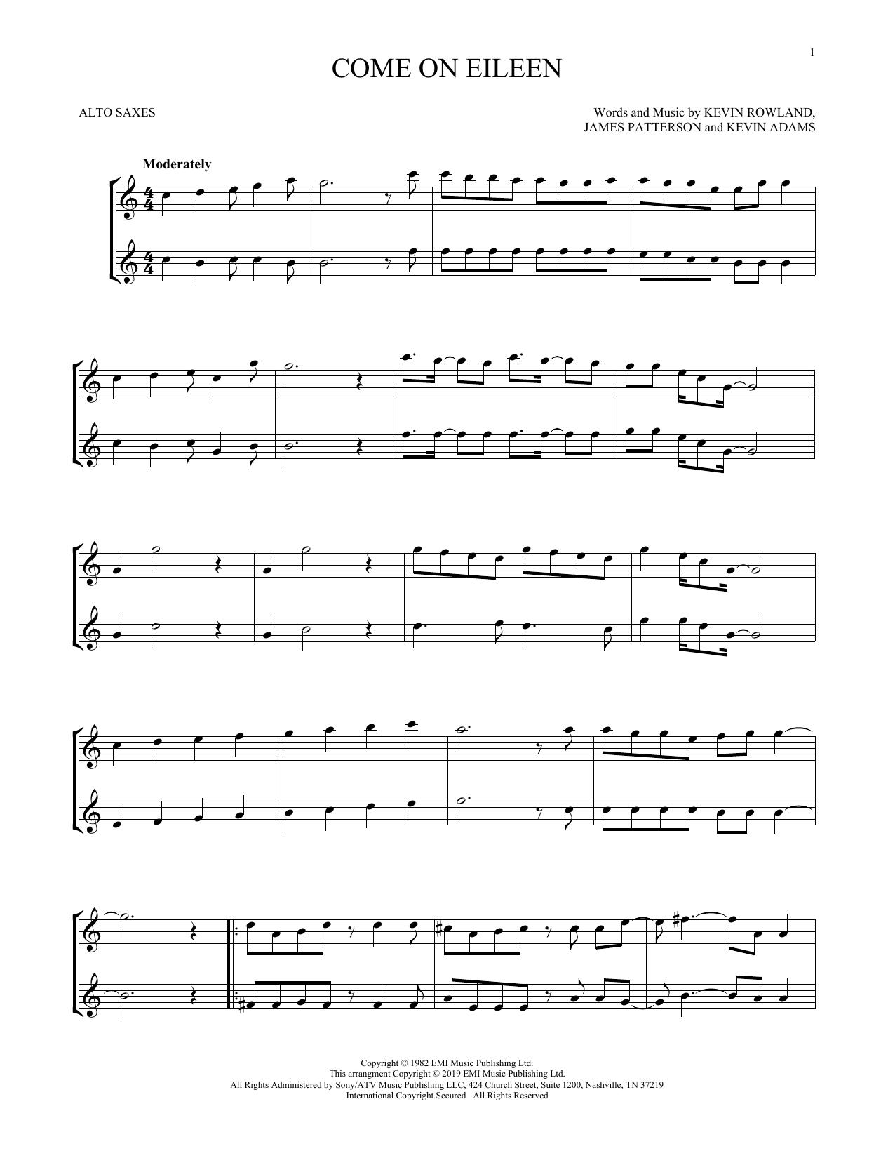 Come On Eileen (Alto Sax Duet)
