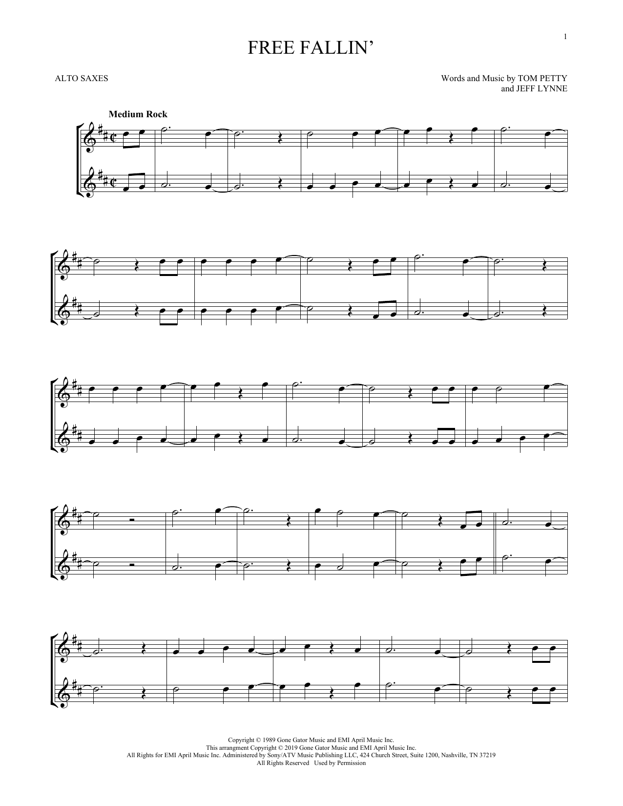 Free Fallin' (Alto Sax Duet)