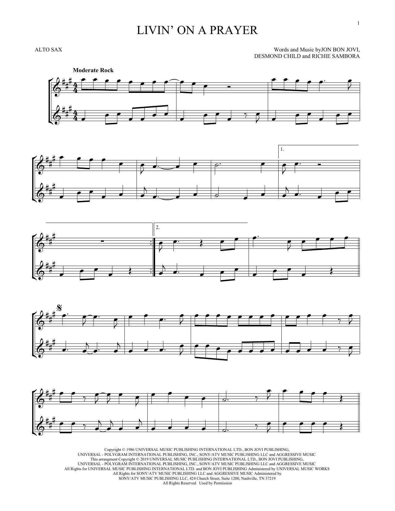 Livin' On A Prayer (Alto Sax Duet)
