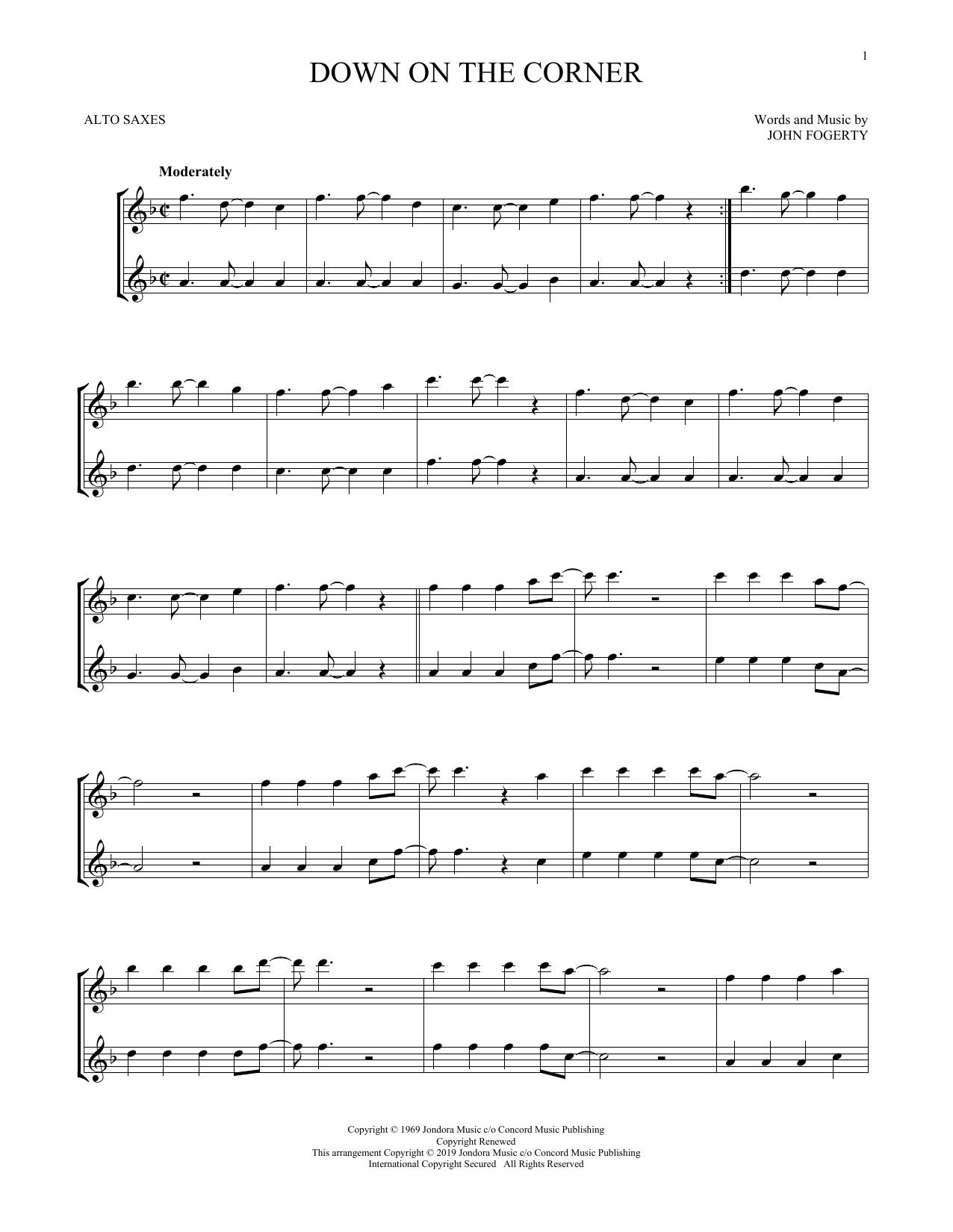 Down On The Corner (Alto Sax Duet)