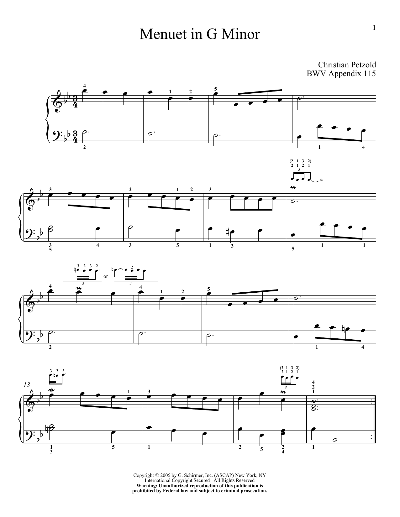 Bach, J.S. - Selections from the Notebook for Anna Magdalena Bach - Book & CD by Bach, Johann Sebastian Tsitsaros, Christos