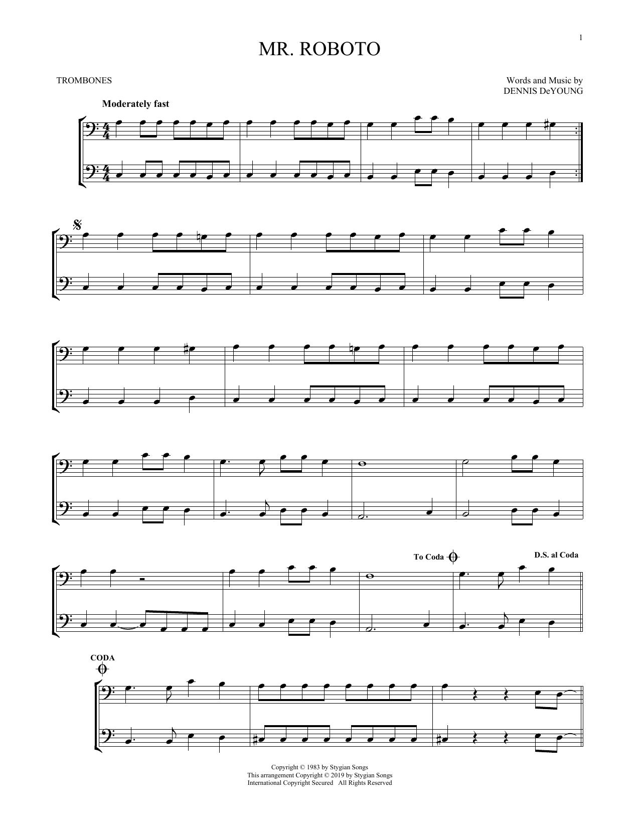 Mr. Roboto (Trombone Duet)