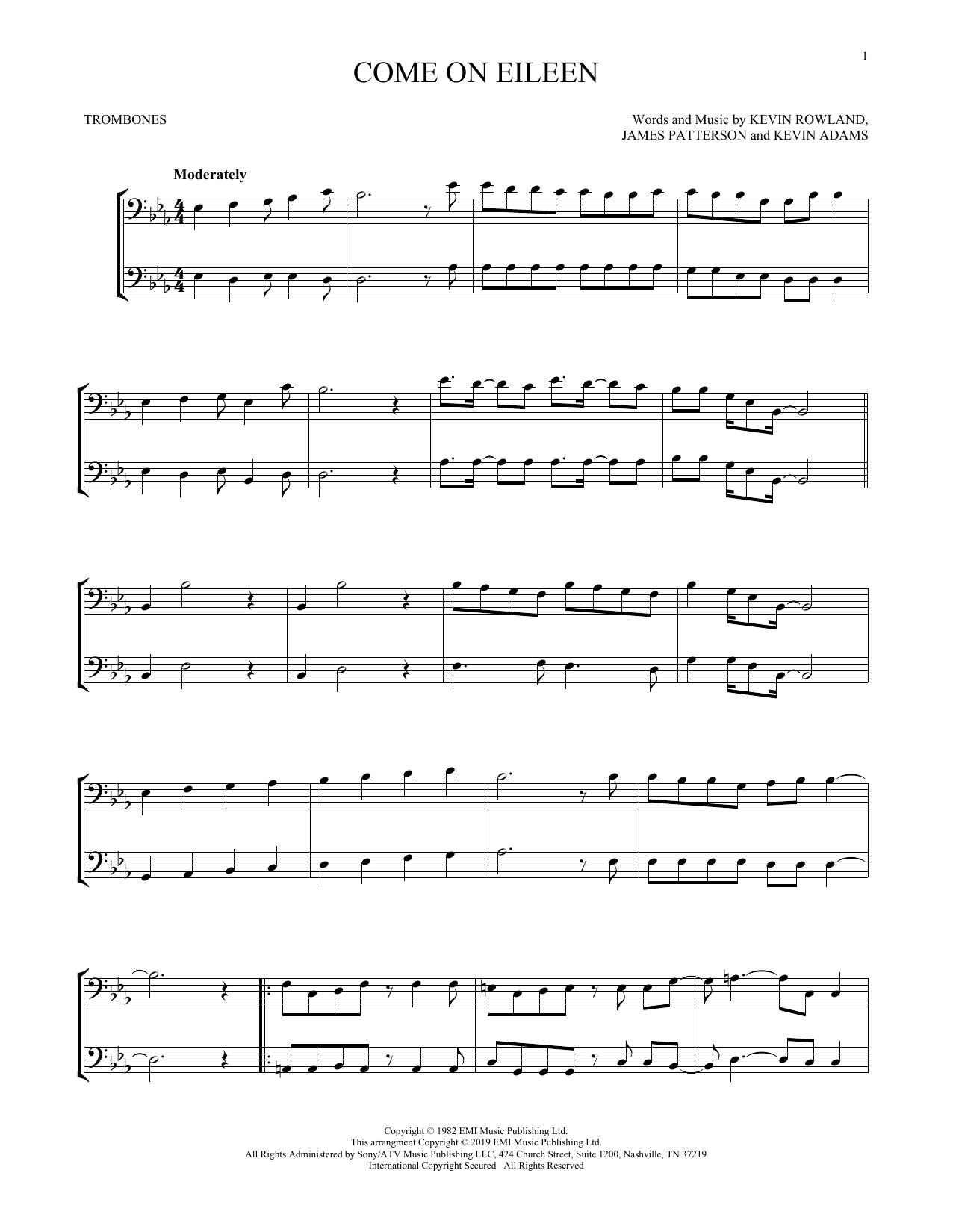 Come On Eileen (Trombone Duet)