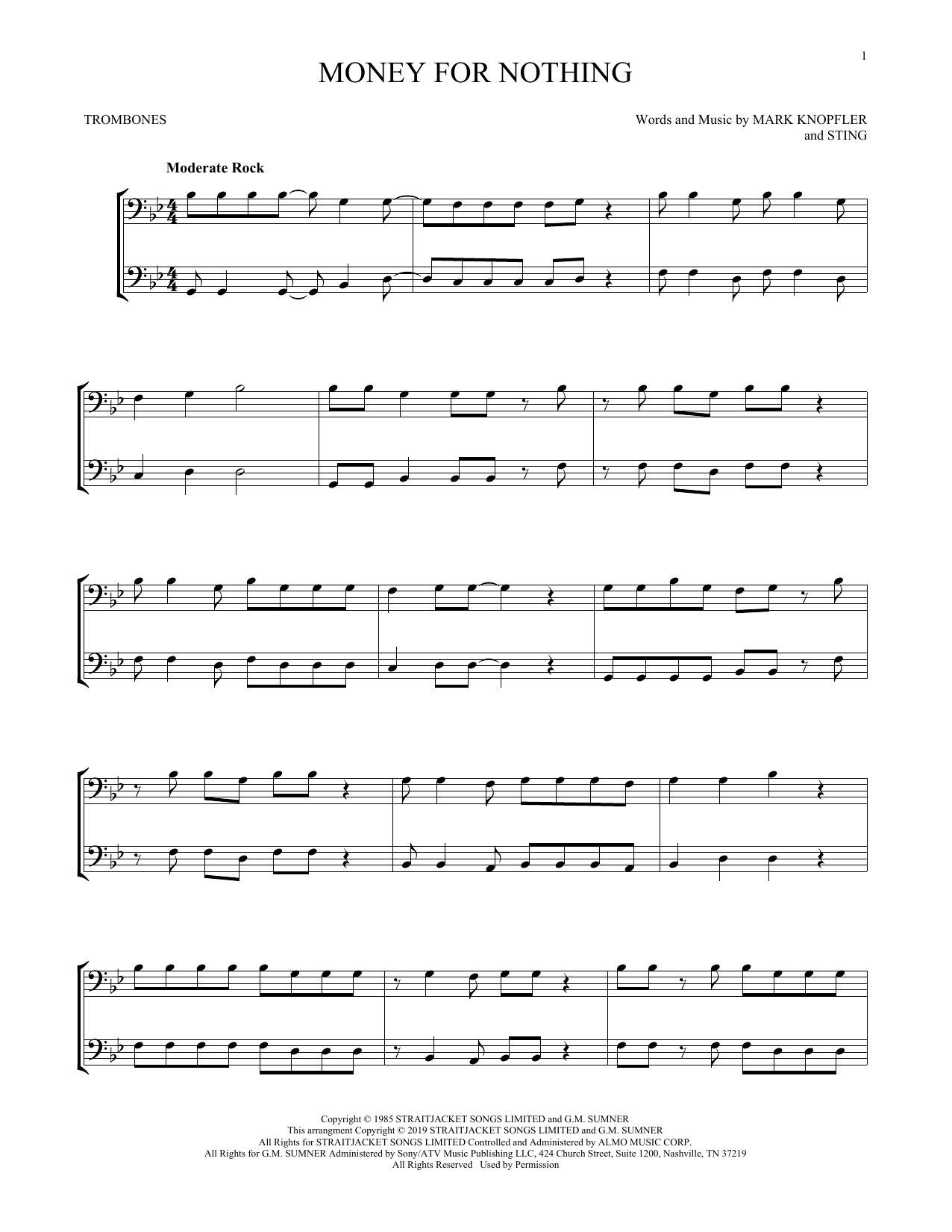 Money For Nothing (Trombone Duet)