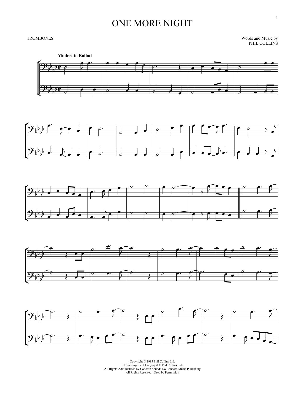 One More Night (Trombone Duet)