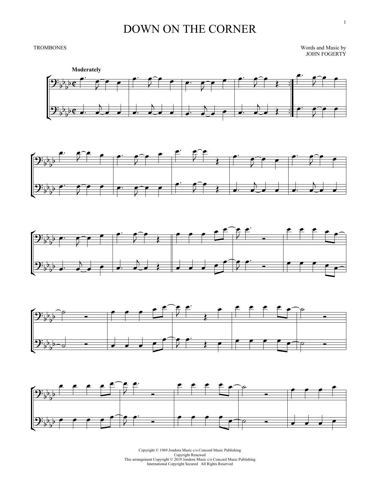 Down On The Corner (Trombone Duet)