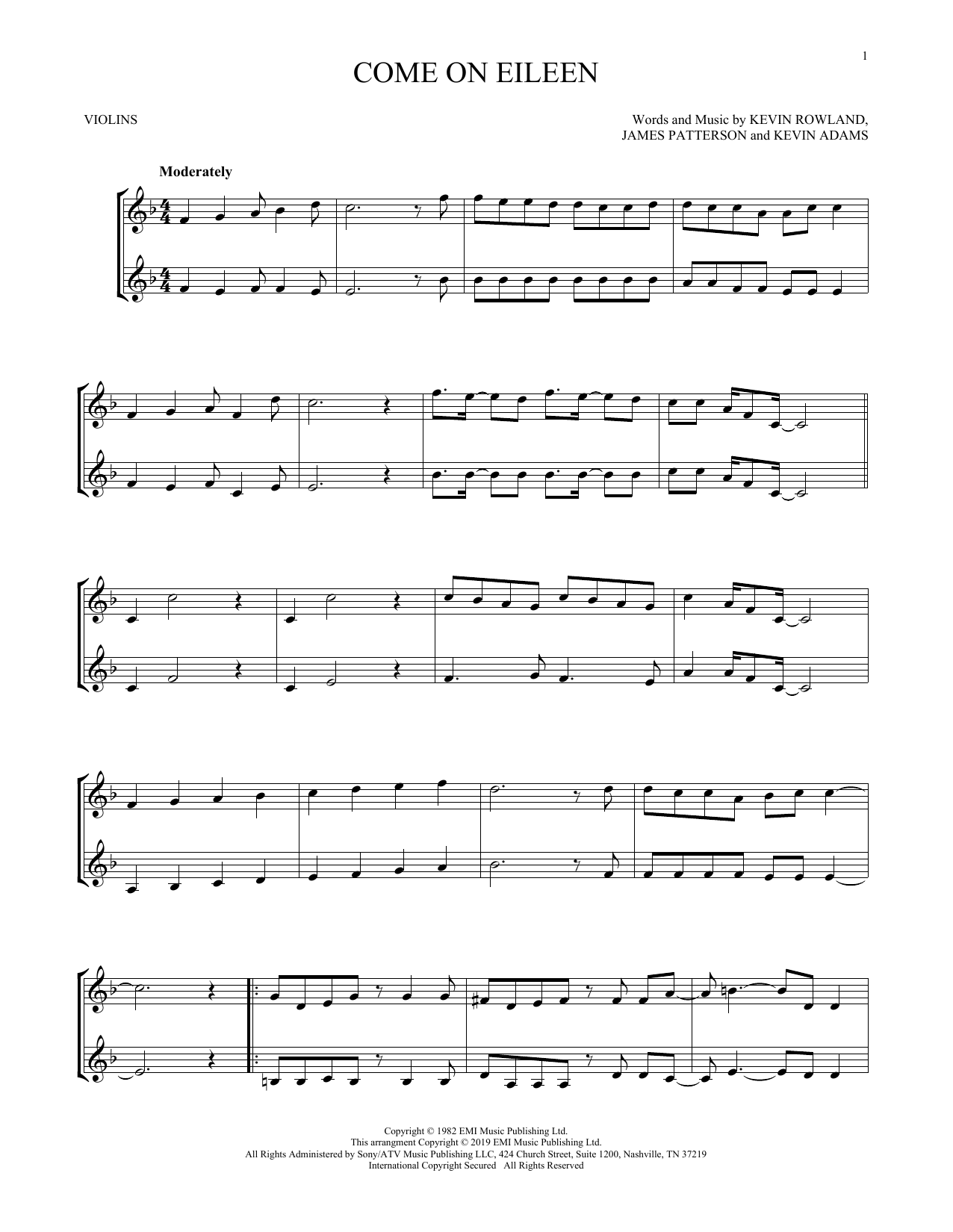 Come On Eileen (Violin Duet)