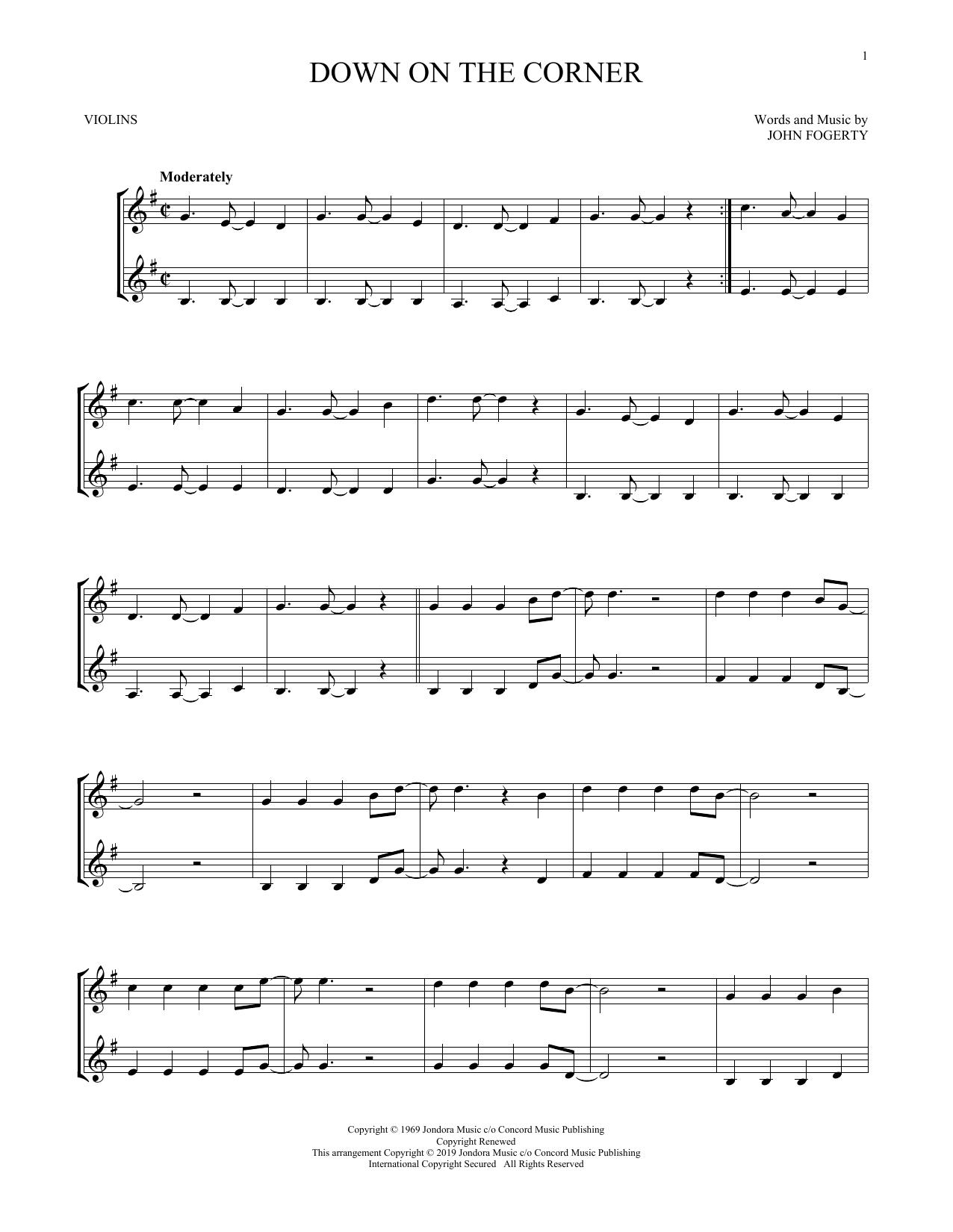 Down On The Corner (Violin Duet)