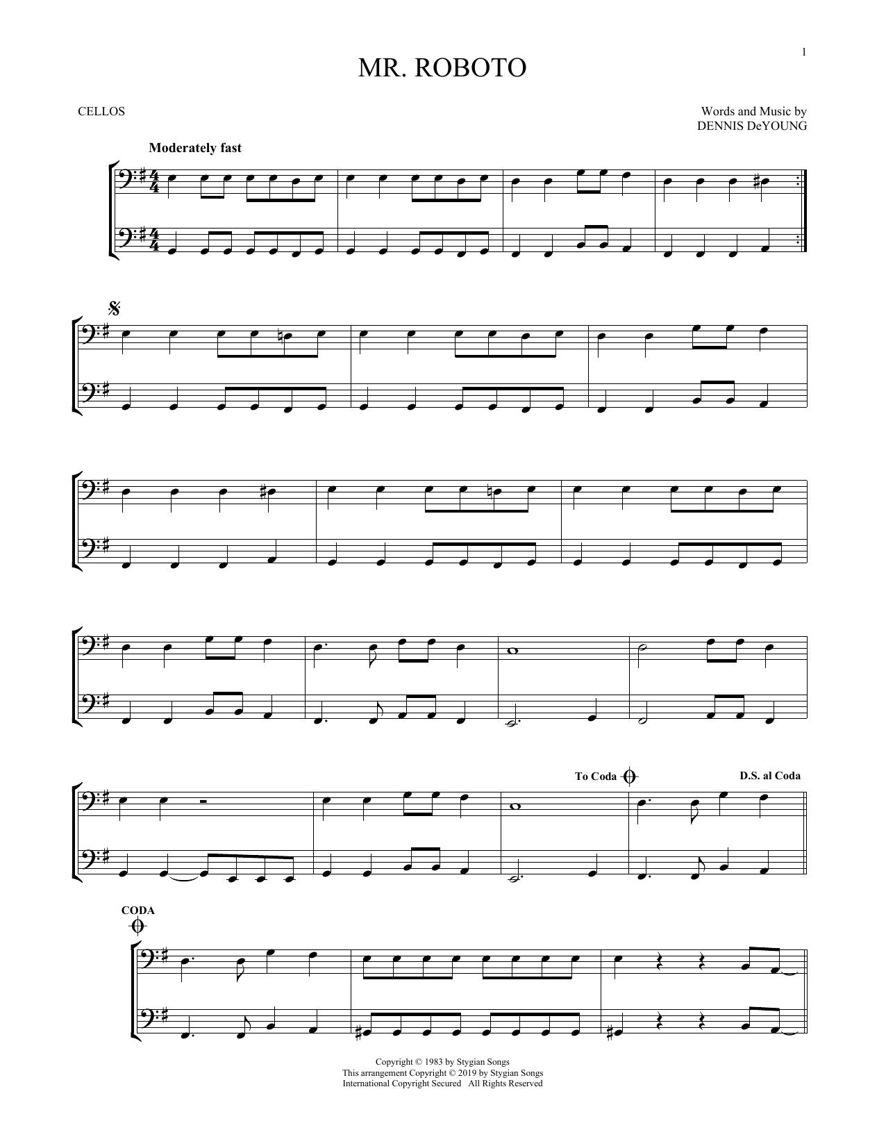 Mr. Roboto (Cello Duet)