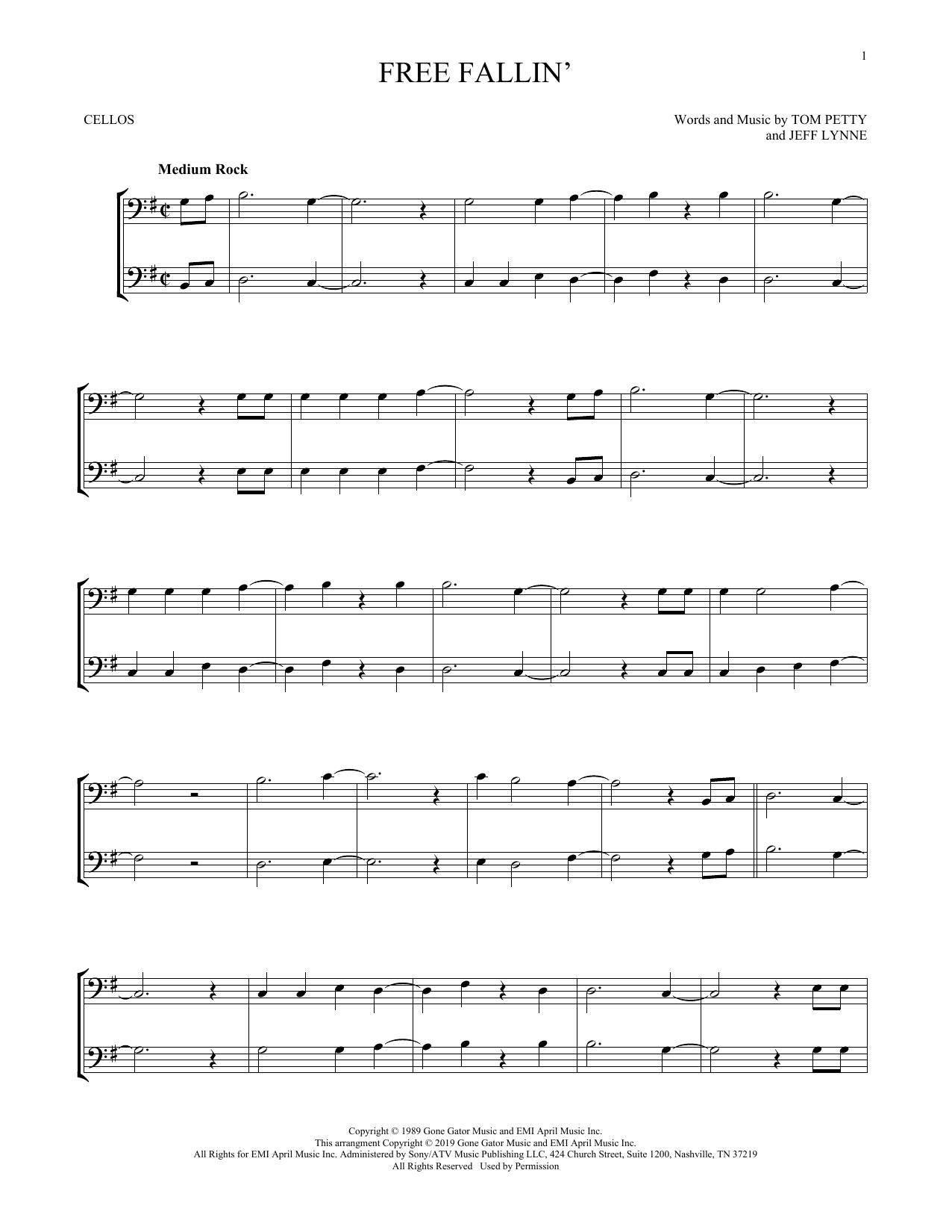 Free Fallin' (Cello Duet)