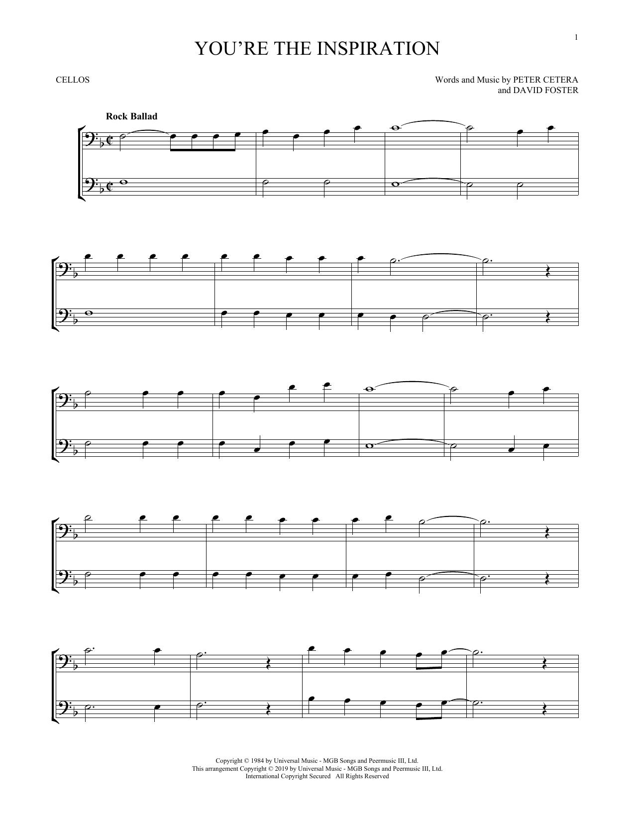 You're The Inspiration (Cello Duet)