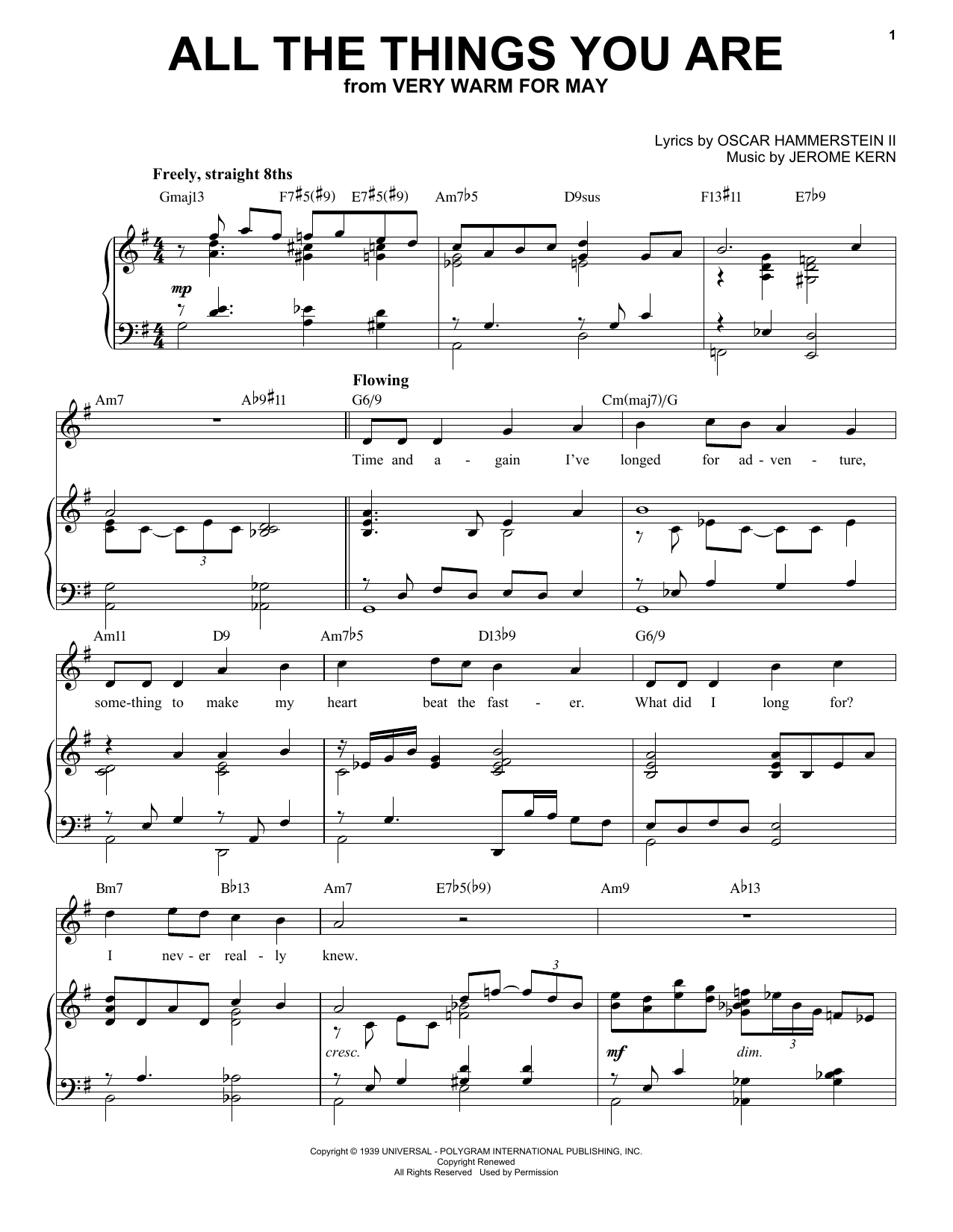 All The Things You Are [Jazz version] (arr. Brent Edstrom) (Piano & Vocal)