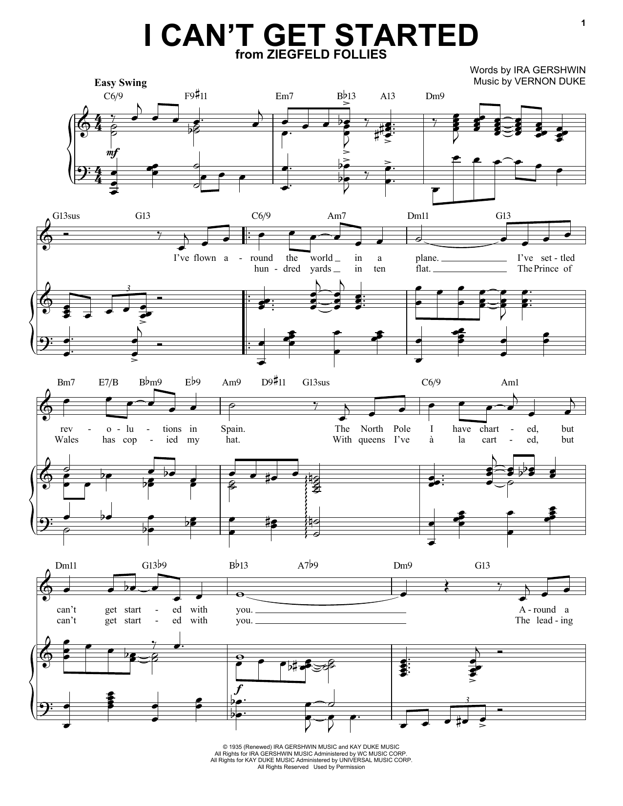 I Can't Get Started [Jazz version] (arr. Brent Edstrom) (Piano & Vocal)