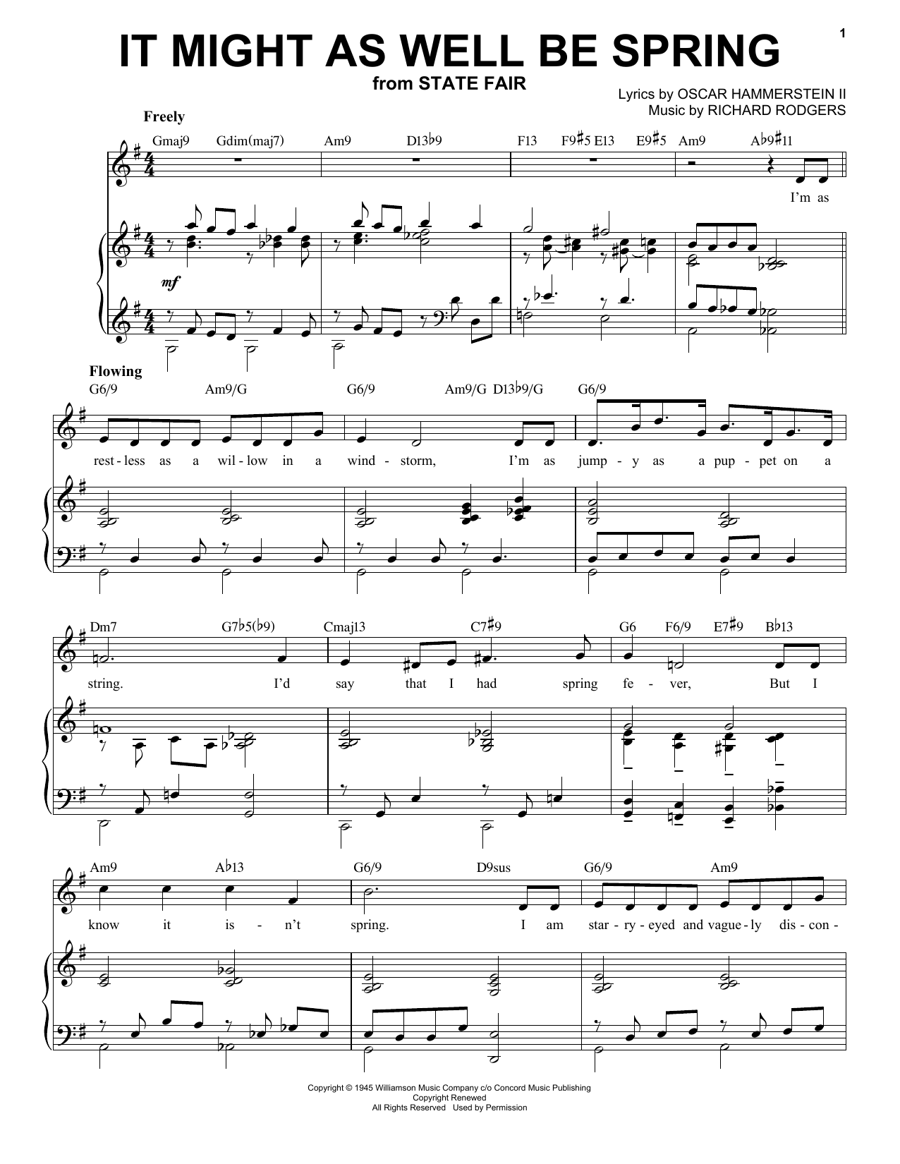 It Might As Well Be Spring [Jazz version] (arr. Brent Edstrom) (Piano & Vocal)