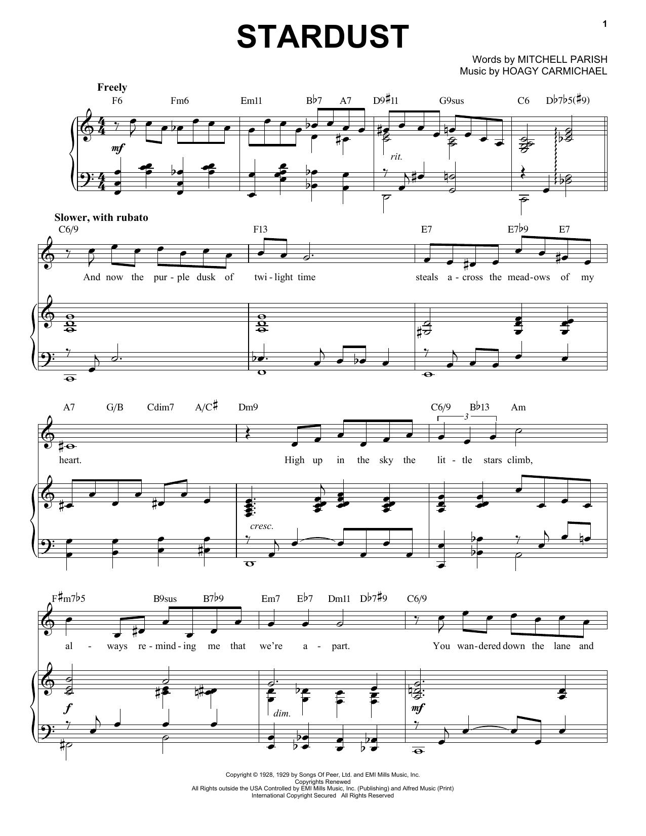 Stardust [Jazz version] (arr. Brent Edstrom) (Piano & Vocal)