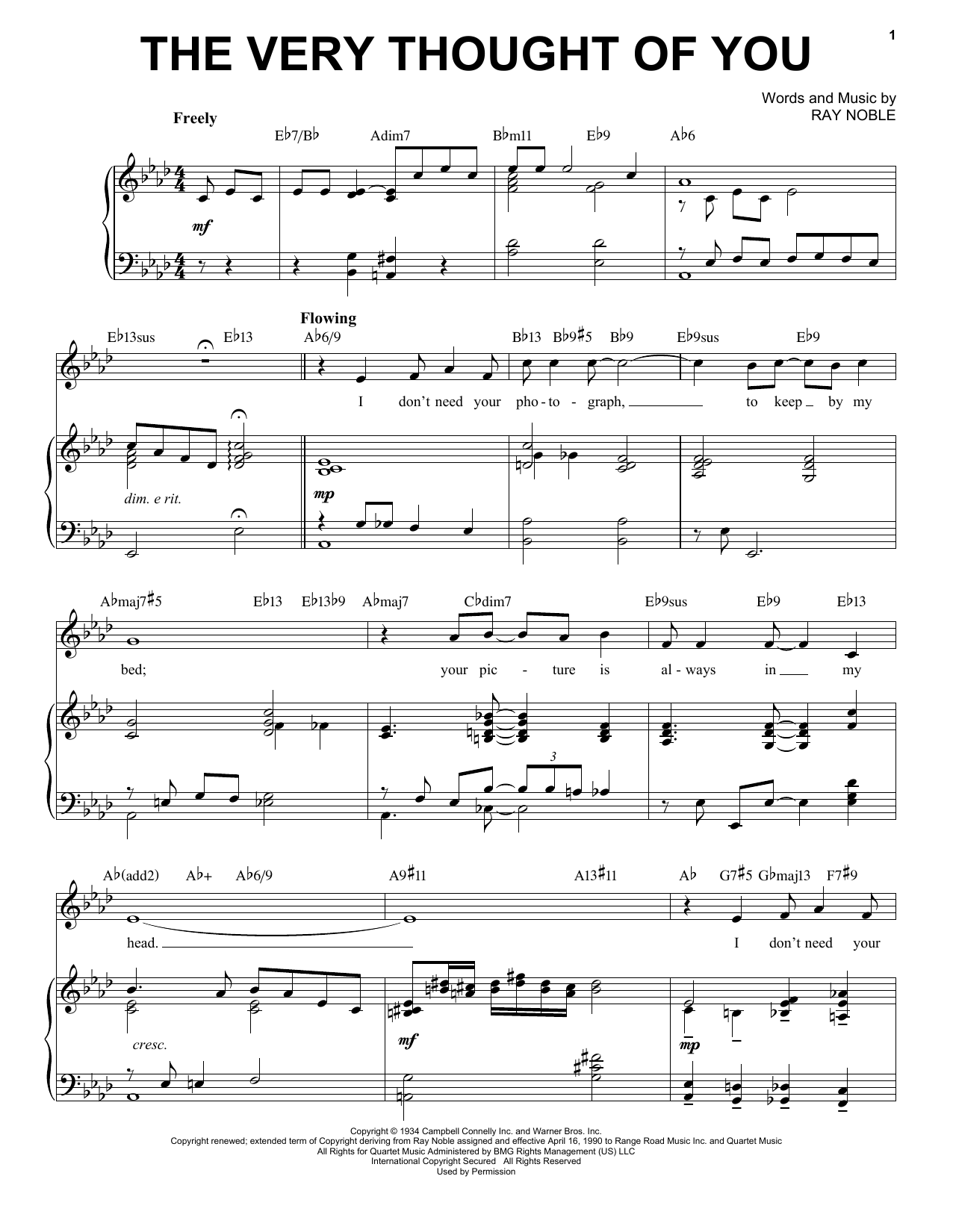 The Very Thought Of You [Jazz version] (arr. Brent Edstrom) (Piano & Vocal)